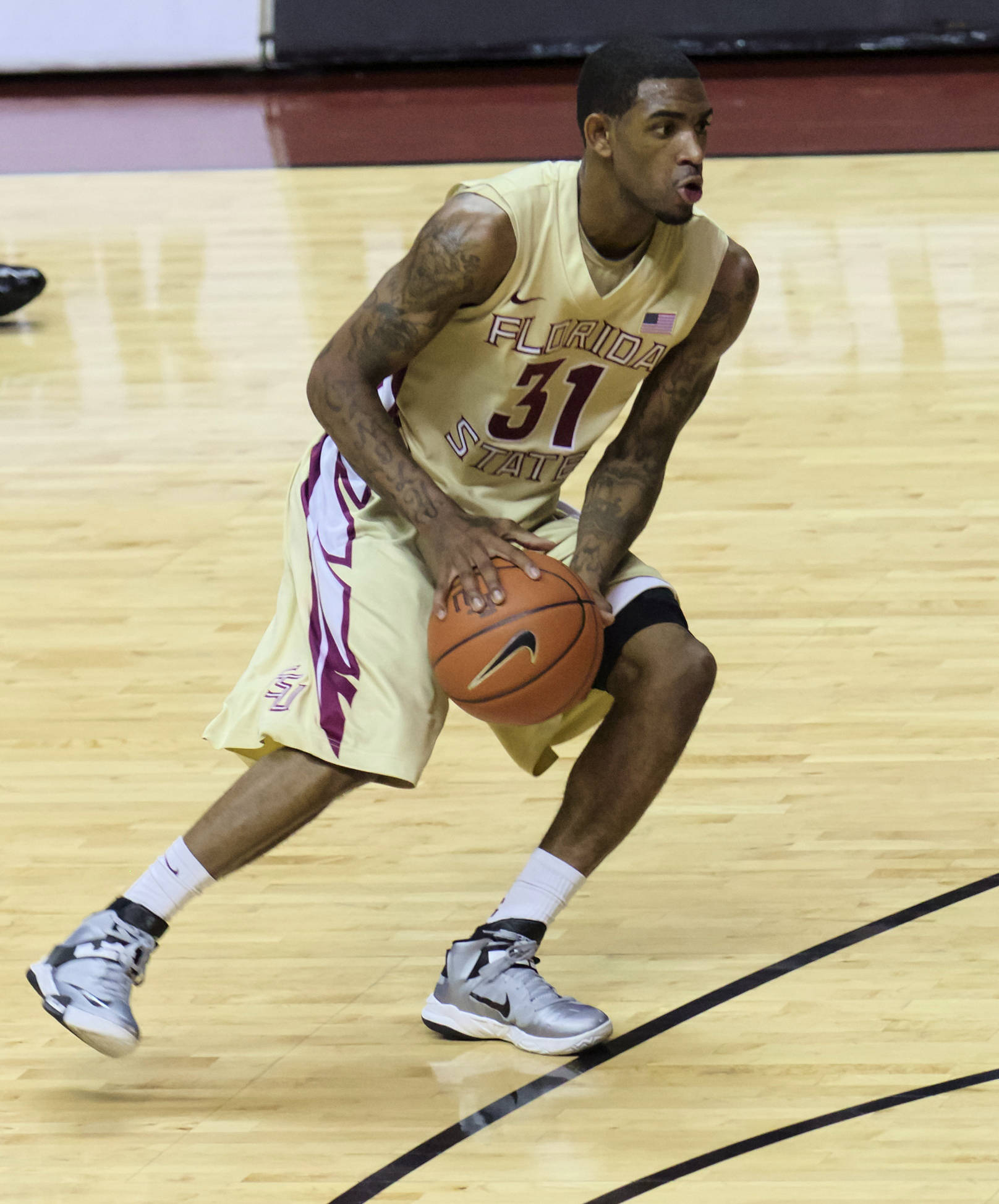 Terry Whisnant (31), FSU vs Minnesota, 11/27/12. (Photo by Steve Musco)