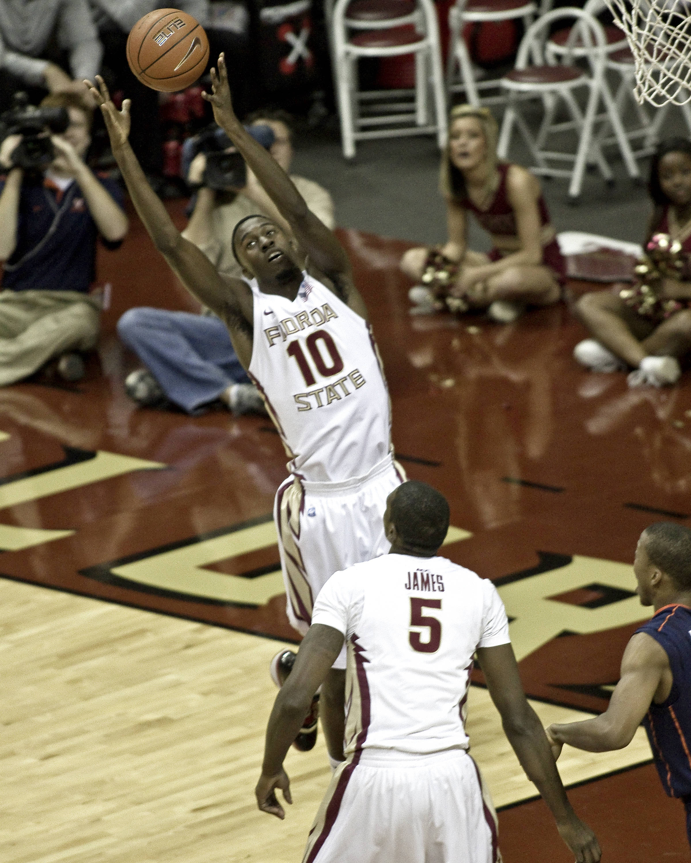FSU vs Virginia- 02//12/11 - Okaro White (10), Bernard James (5)