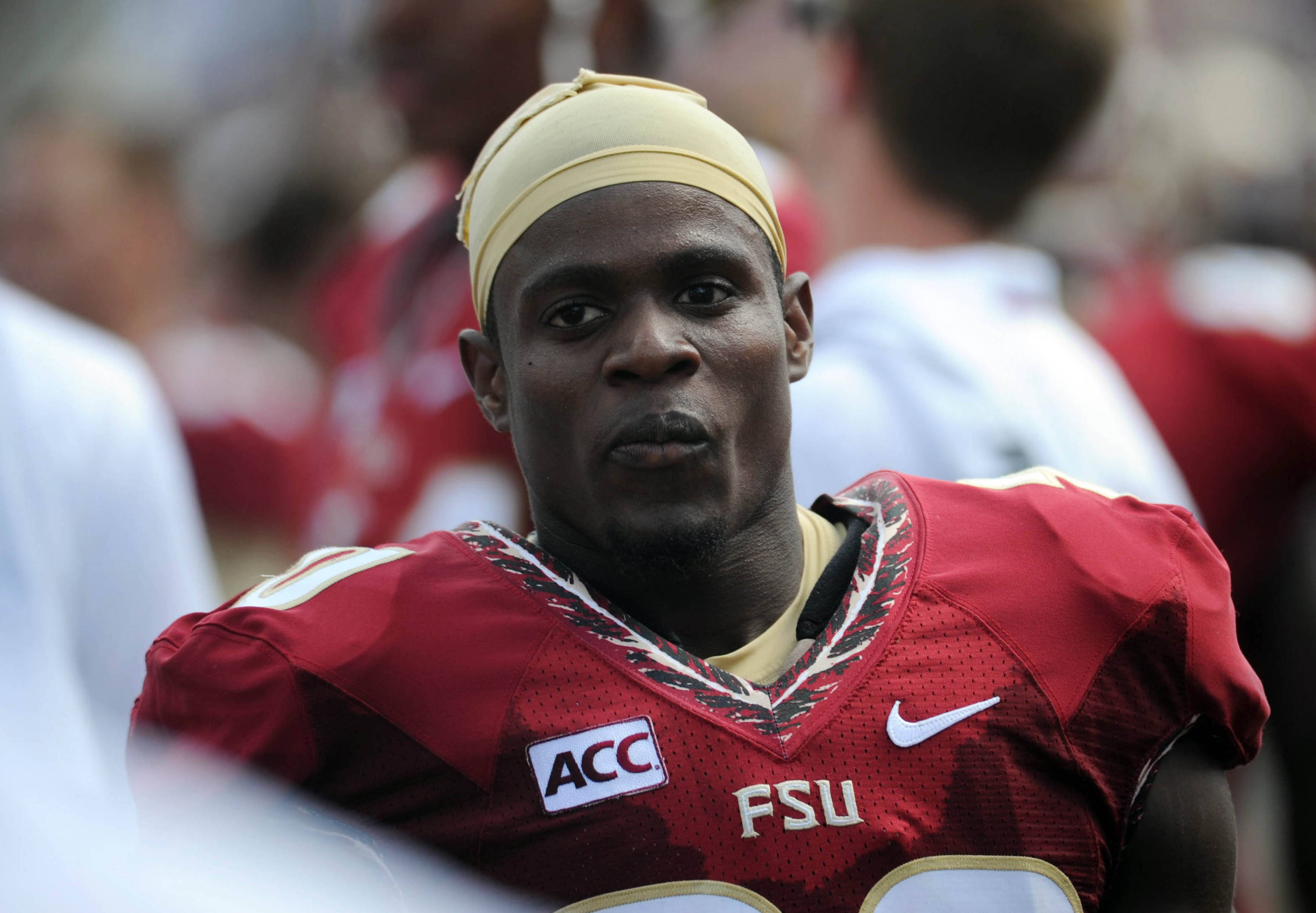 Oct 5, 2013; Tallahassee, FL, USA; Florida State Seminoles defensive back Lamarcus Joyner (20) during the game against the Maryland Terrapins at Doak Campbell Stadium. Mandatory Credit: Melina Vastola-USA TODAY Sports