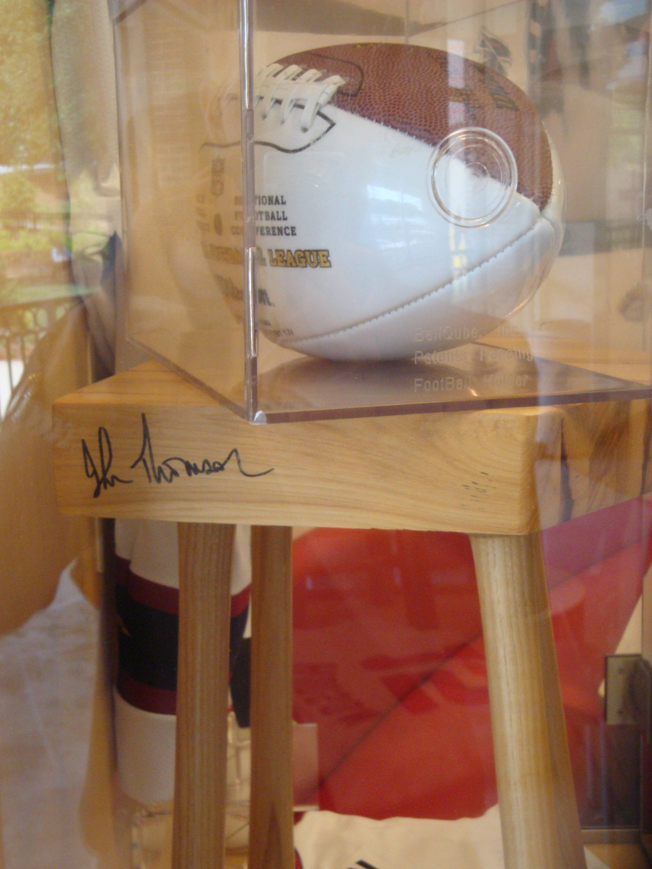 Here's a picture of a signed autograph football!