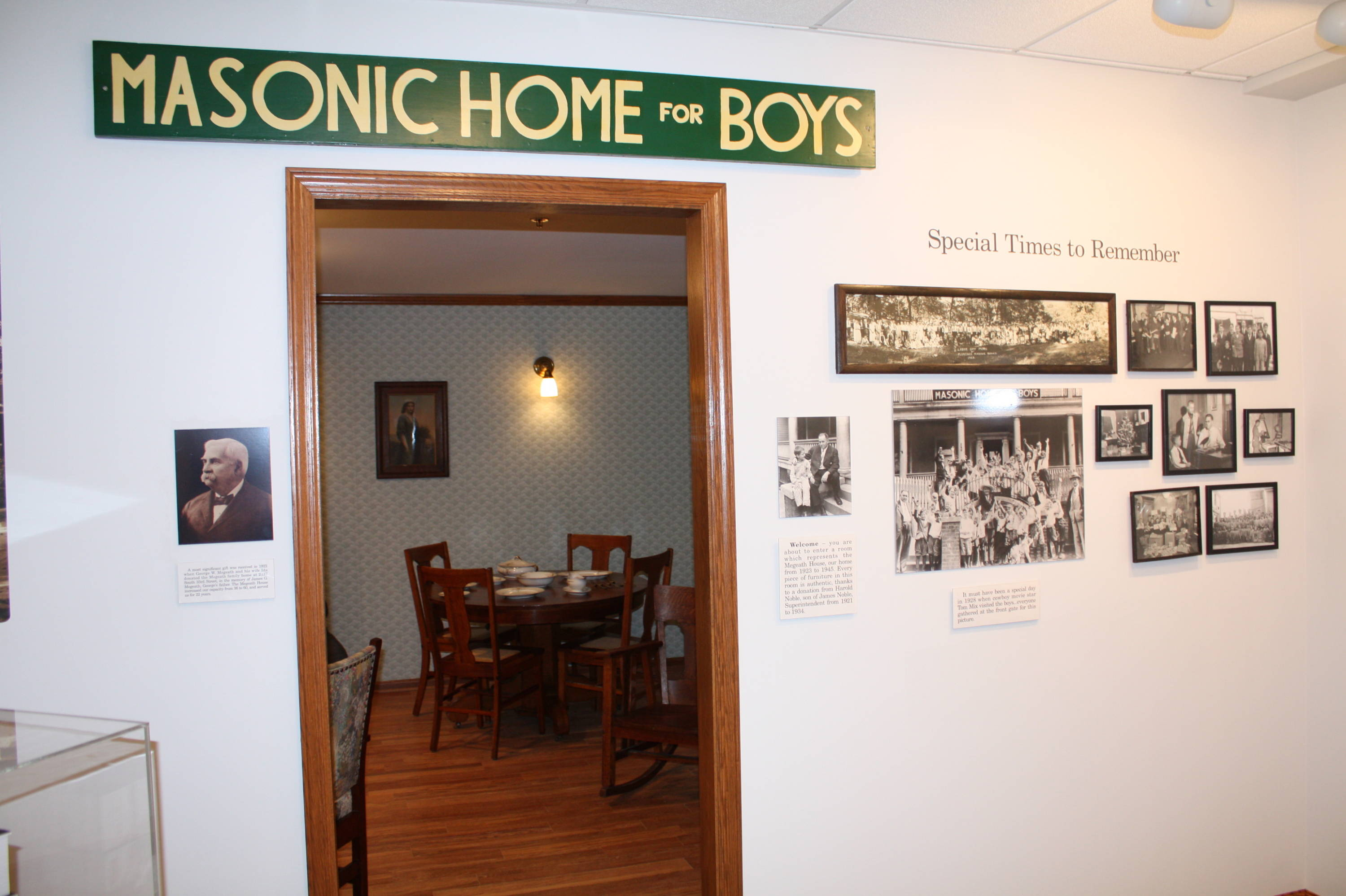 Florida State Baseball visits the Omaha Home for Boys on Saturday, June 16.  A look from inside the museum.