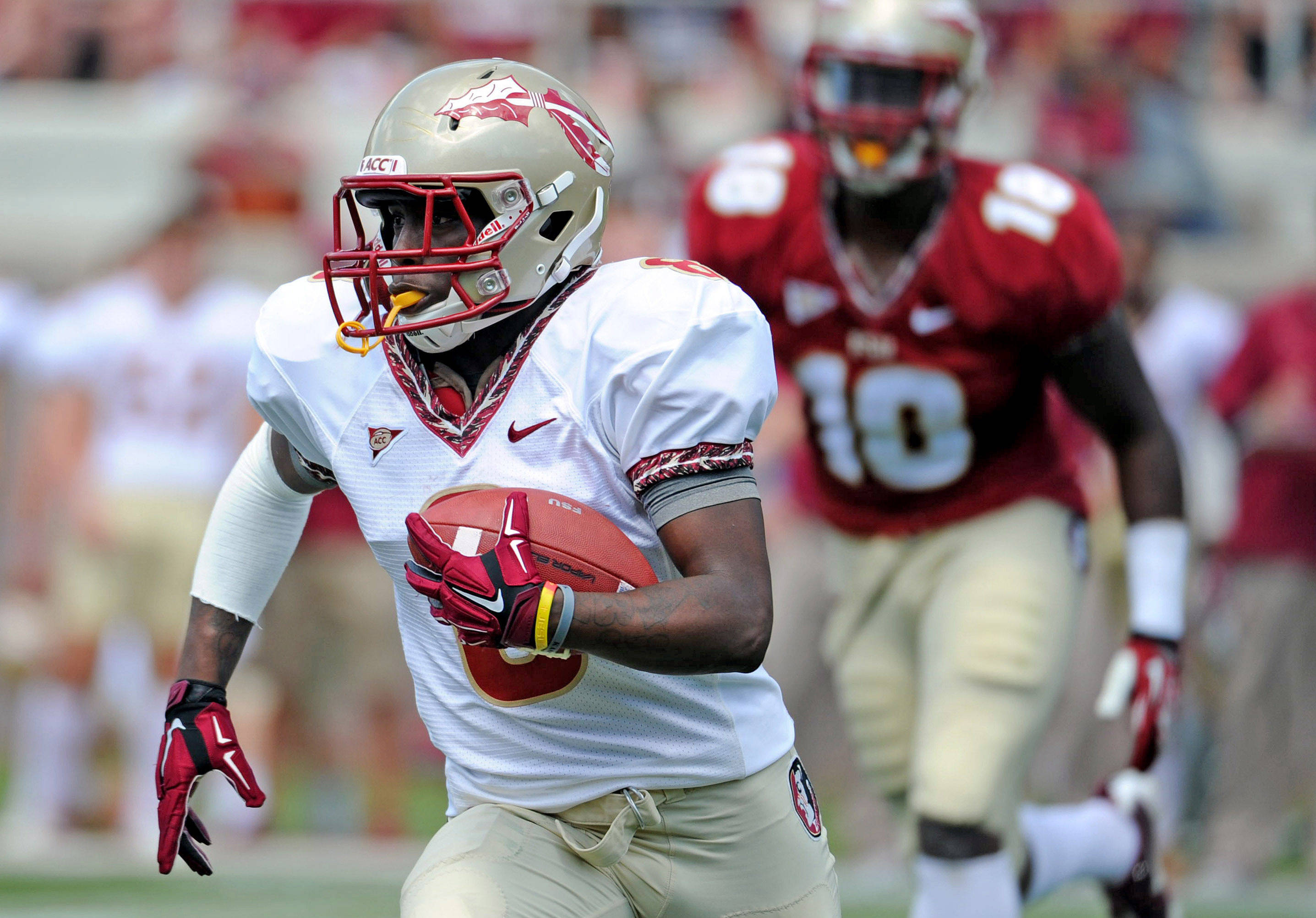 Garnet vs. Gold Spring Game#$%^Apr 12, 2014#$%^(Melina Vastola-USA TODAY Sports)