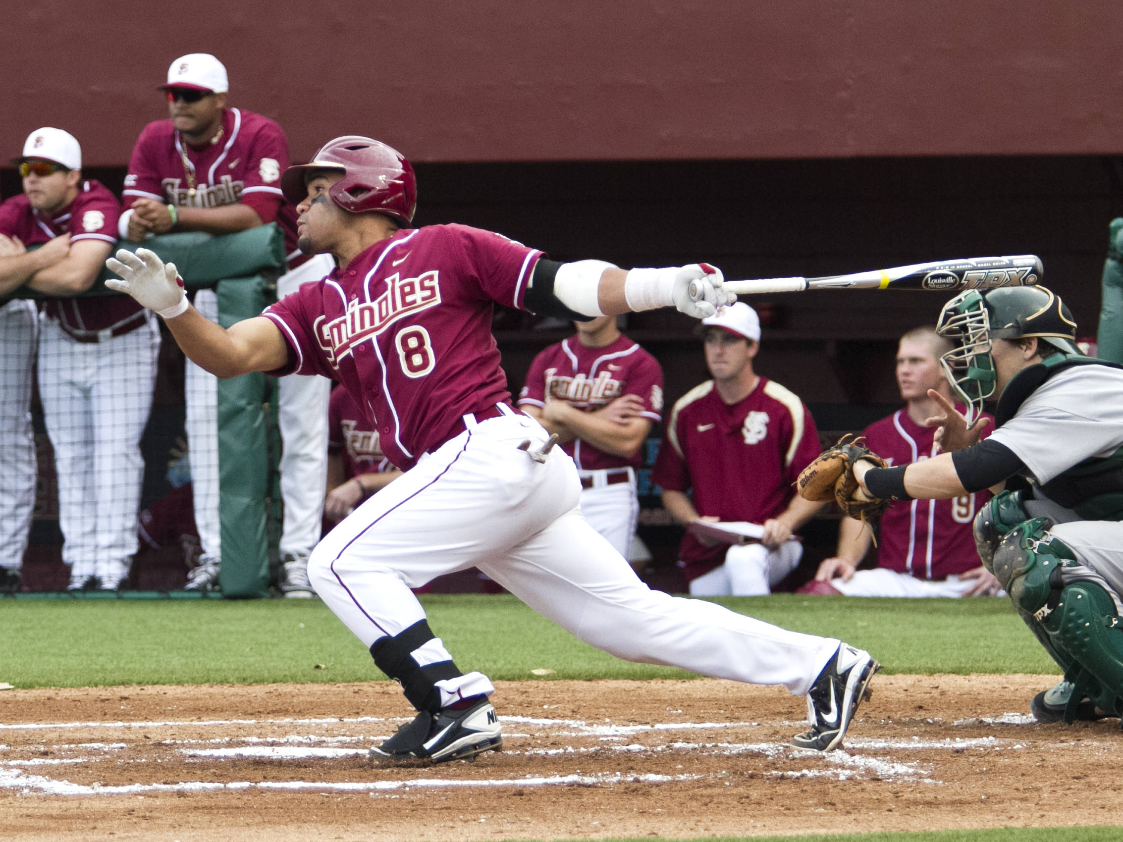 Devon Travis (8), FSU vs Jacksonville,  02/21/2012