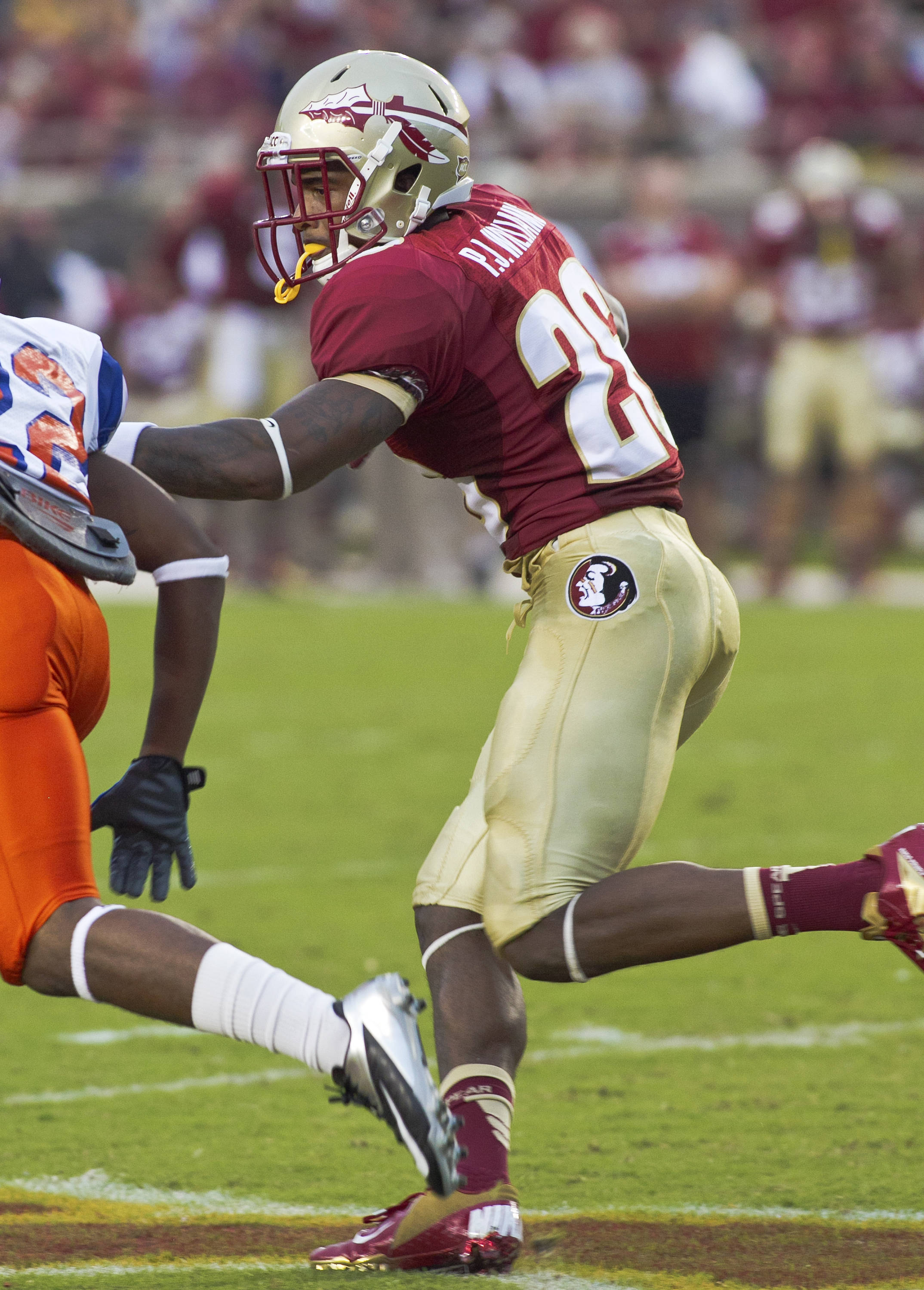 P.J. Williams (26),  FSU vs Savannah State, 9/8/12 (Photo by Steve Musco)