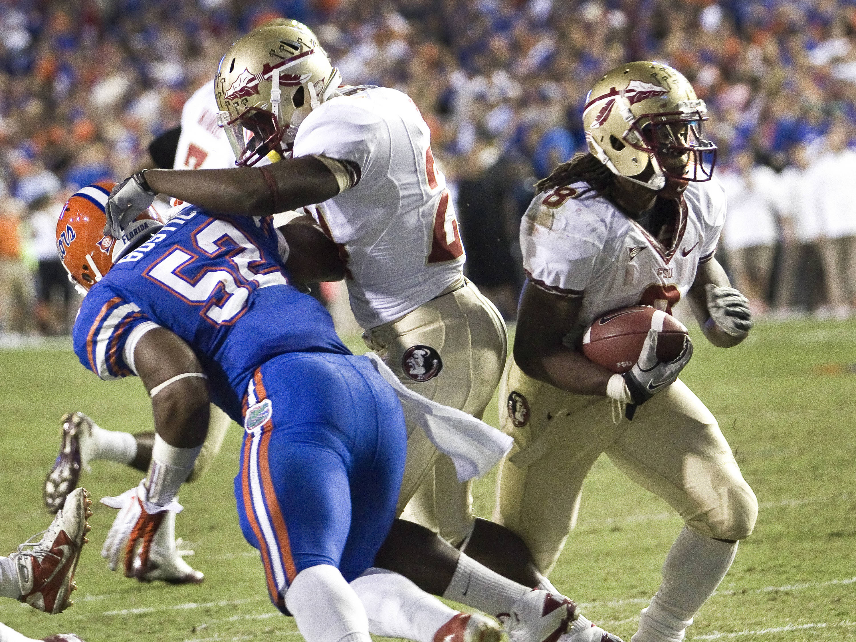 Devonta Freeman breaking into the open, FSU vs Florida, 11/26/2011