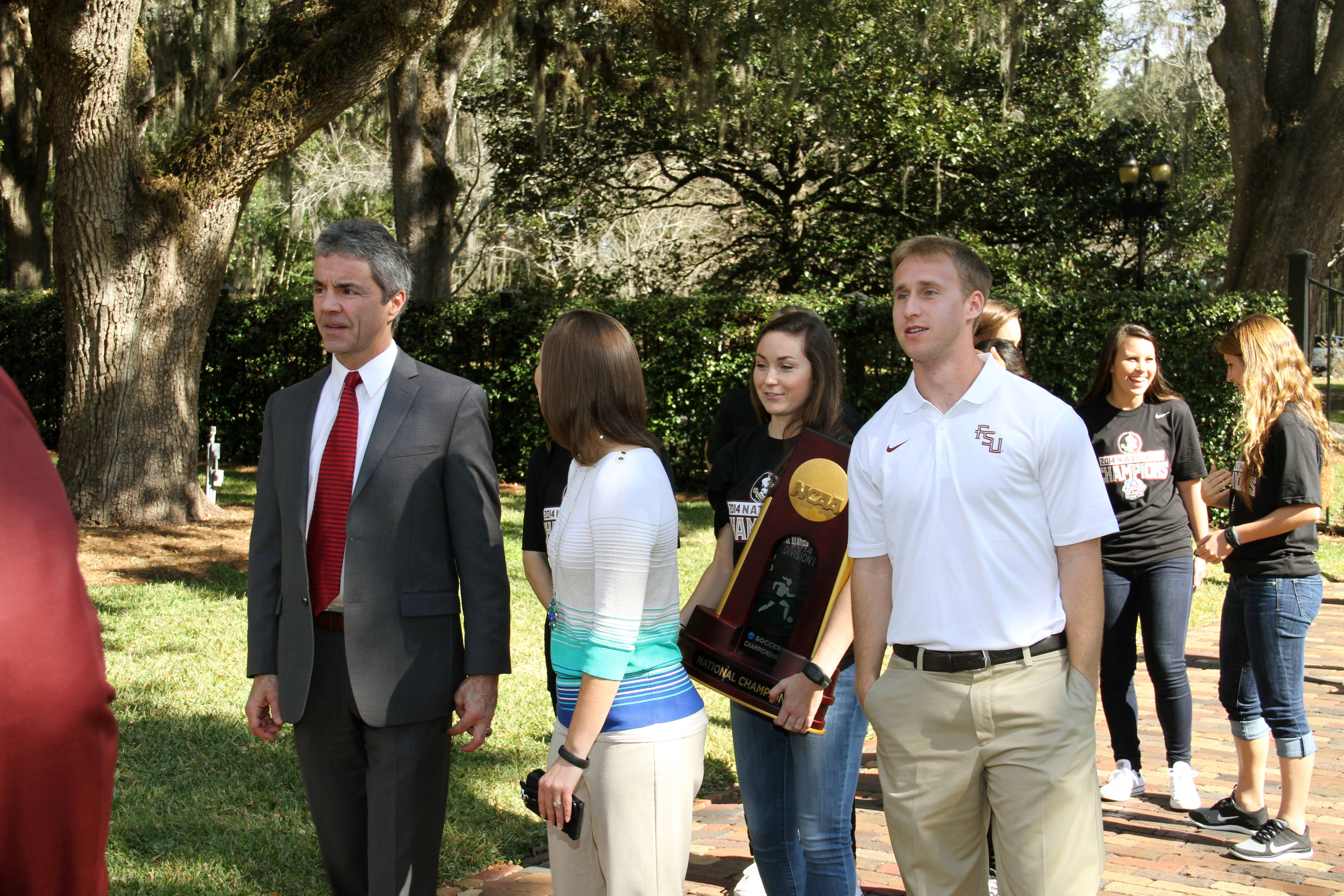 Seminole Soccer at the Governor's Mansion.