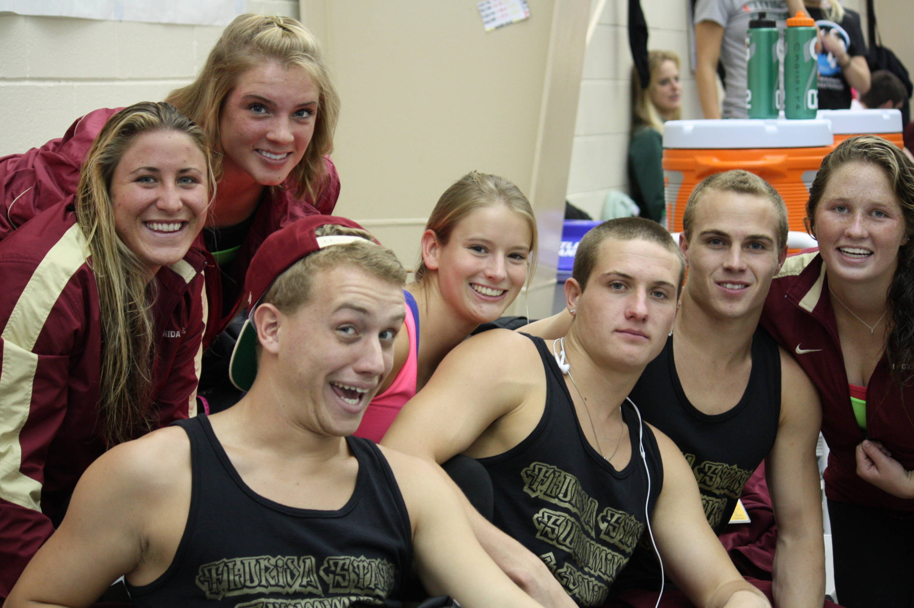 The FSU divers at finals.