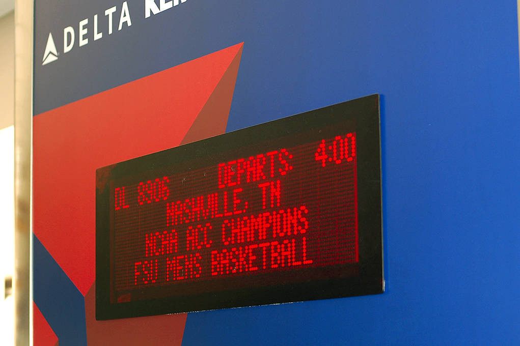 The Seminoles left Tallahassee for Nashville Wednesday afternoon.