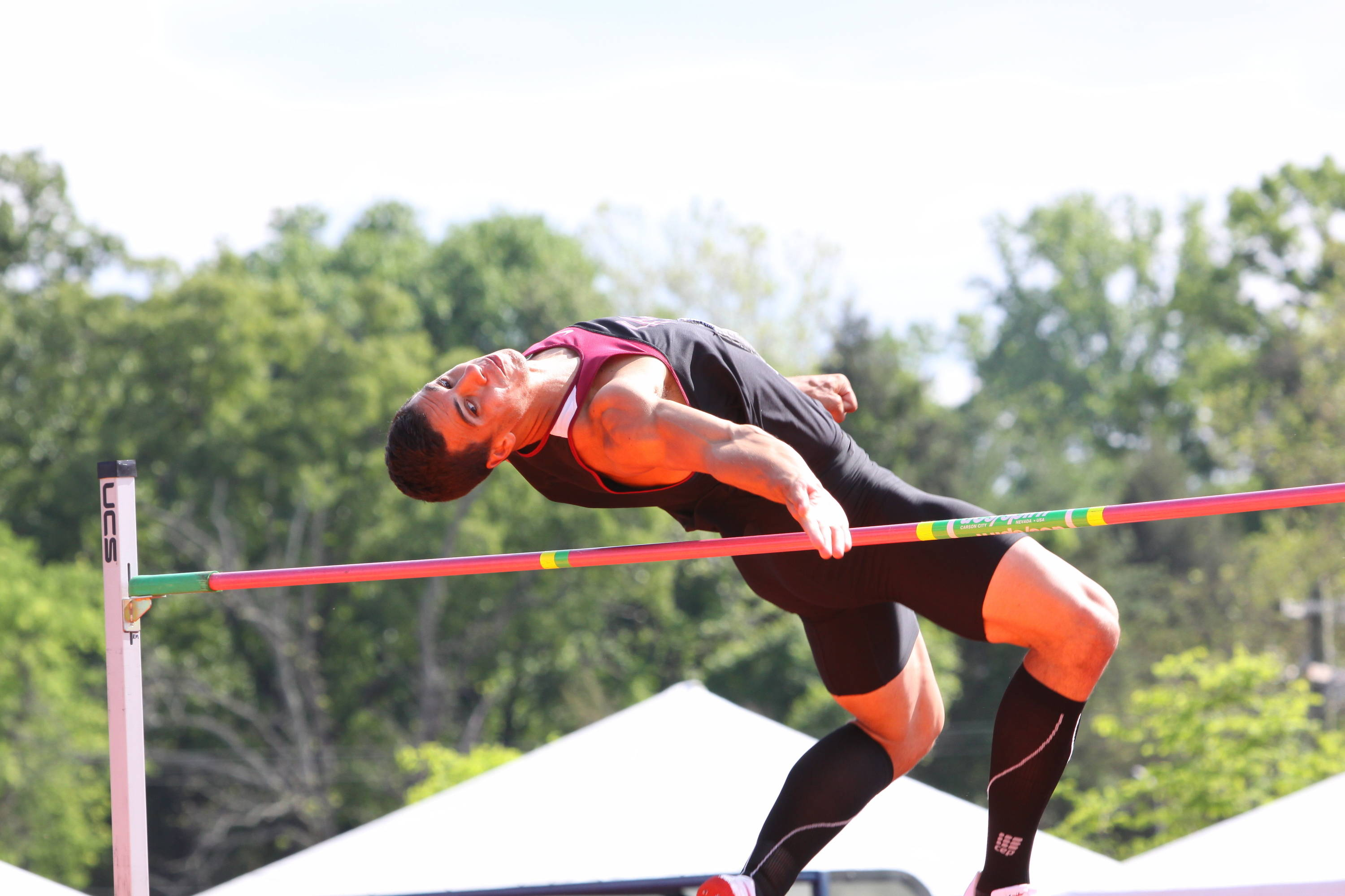 Where he set a new personal-best of 2.06m (6-9), good for 859 points, and opened up 3275-3100 edge over Beach as they returned to the track for Thursday's fifth and final event ...