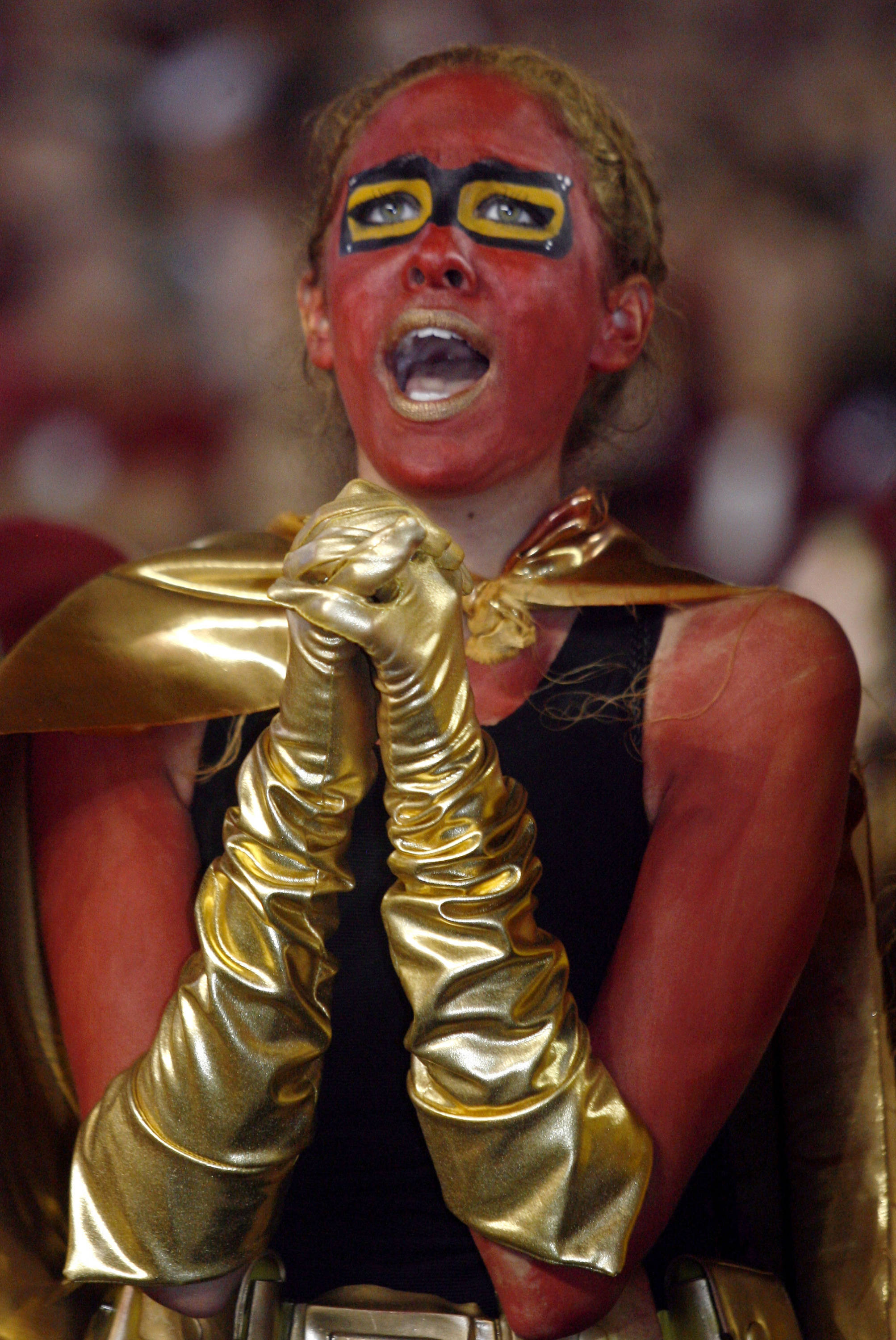 A Florida State fans reacts during the second quarter. (AP Photo/Phil Sears)
