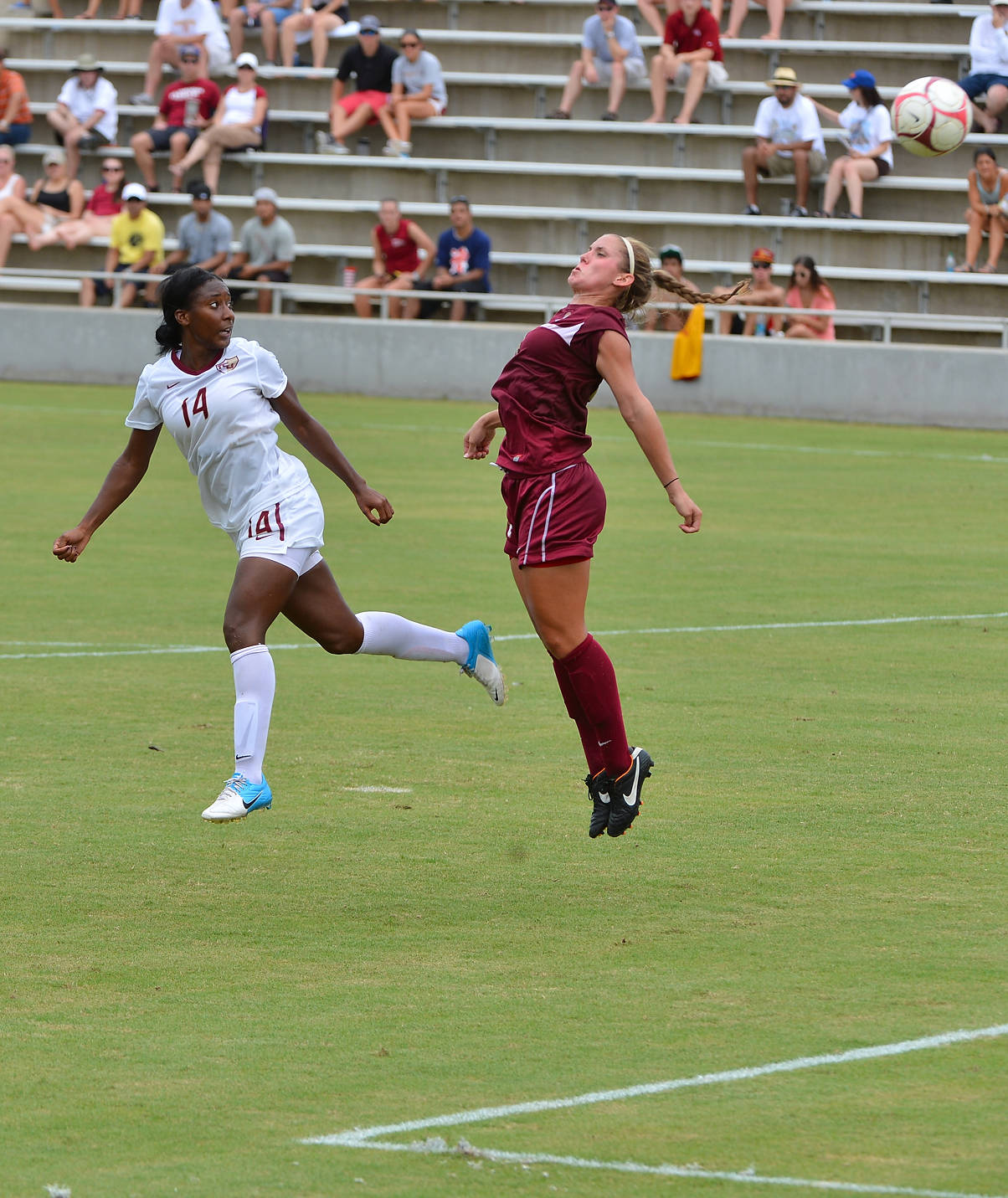 Tiffany McCarty flicks in her second goal of the afternoon.