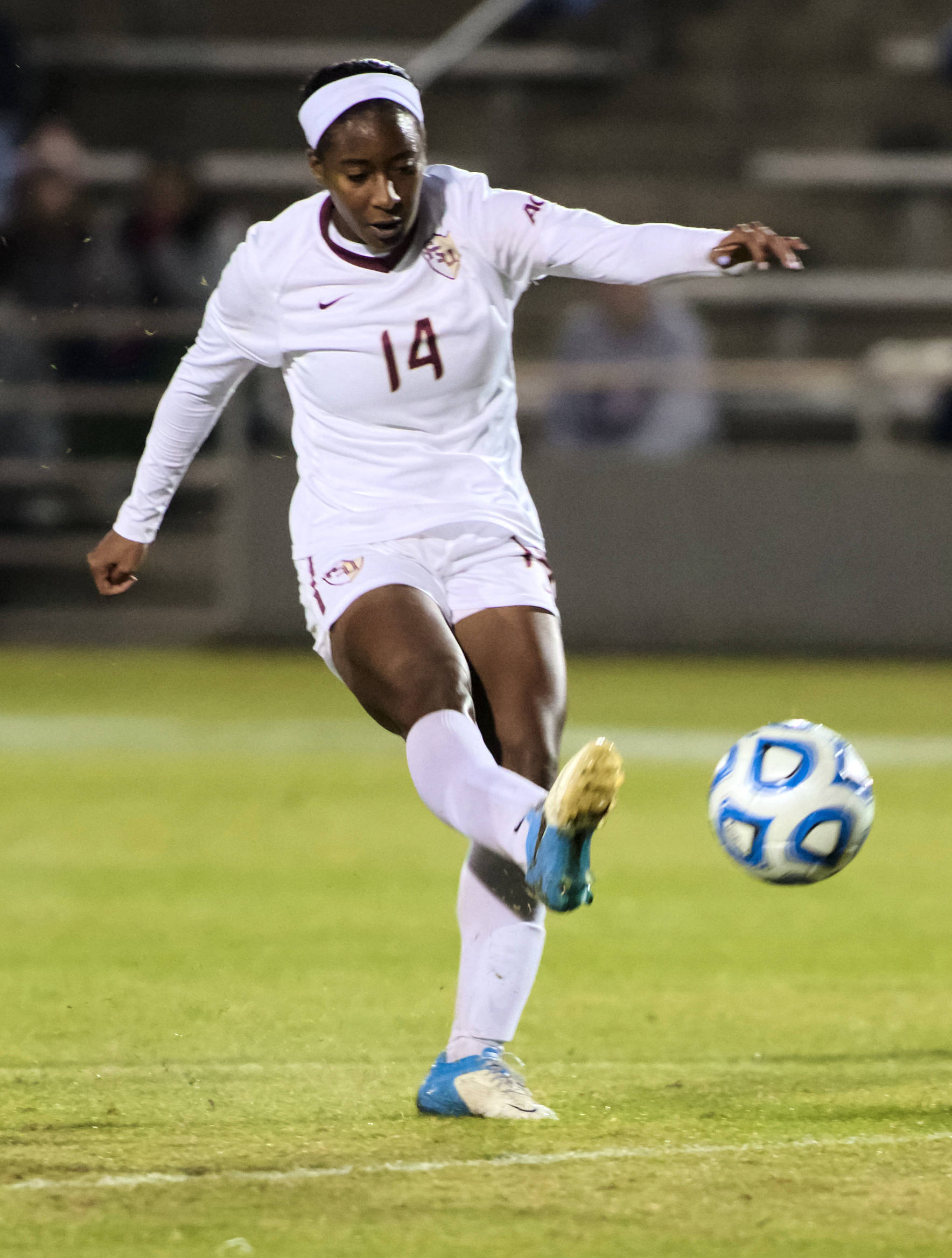 Tiffany McCarty (14), FSU vs MVSU, 11/09/12. (Photo by Steve Musco)