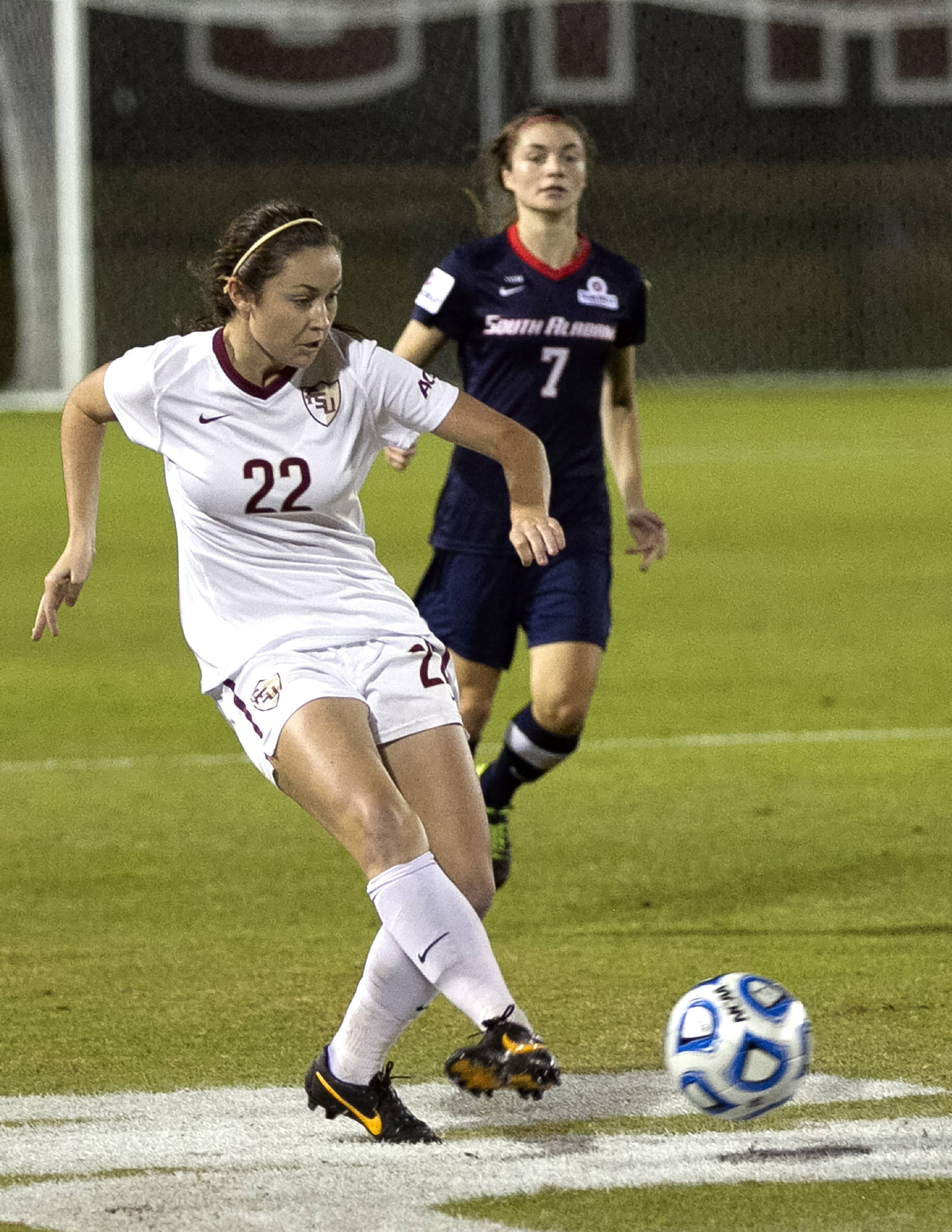 Kirsten Crowley (22), FSU vs University of South Alabama,  NCAA Tournament, 11-15-13, (Photo by Steve Musco)