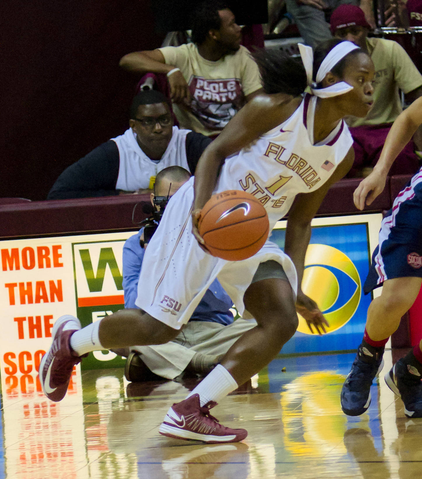Morgan Toles (1), FSU vs Samford, 11/11/12. (Photo by Steve Musco)