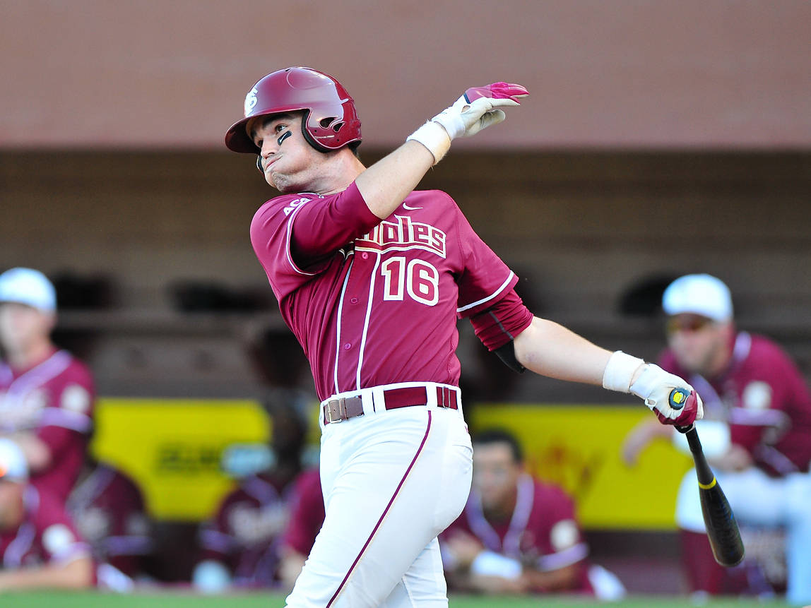 Jayce Boyd collected two of FSU's six hits in the 3-1 victory on Tuesday night.