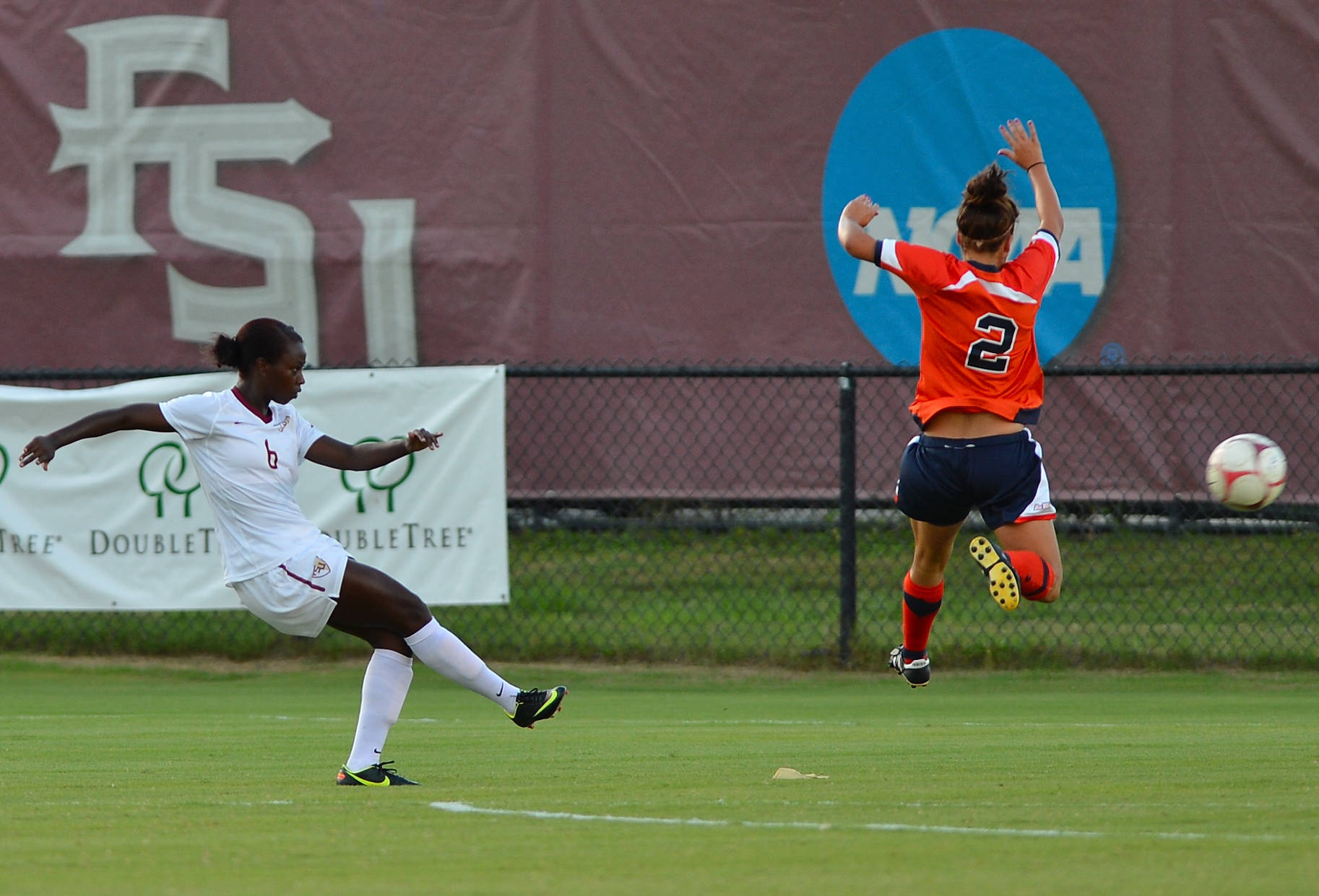 Jessica Price scores the first goal of the game in the third minute of action.