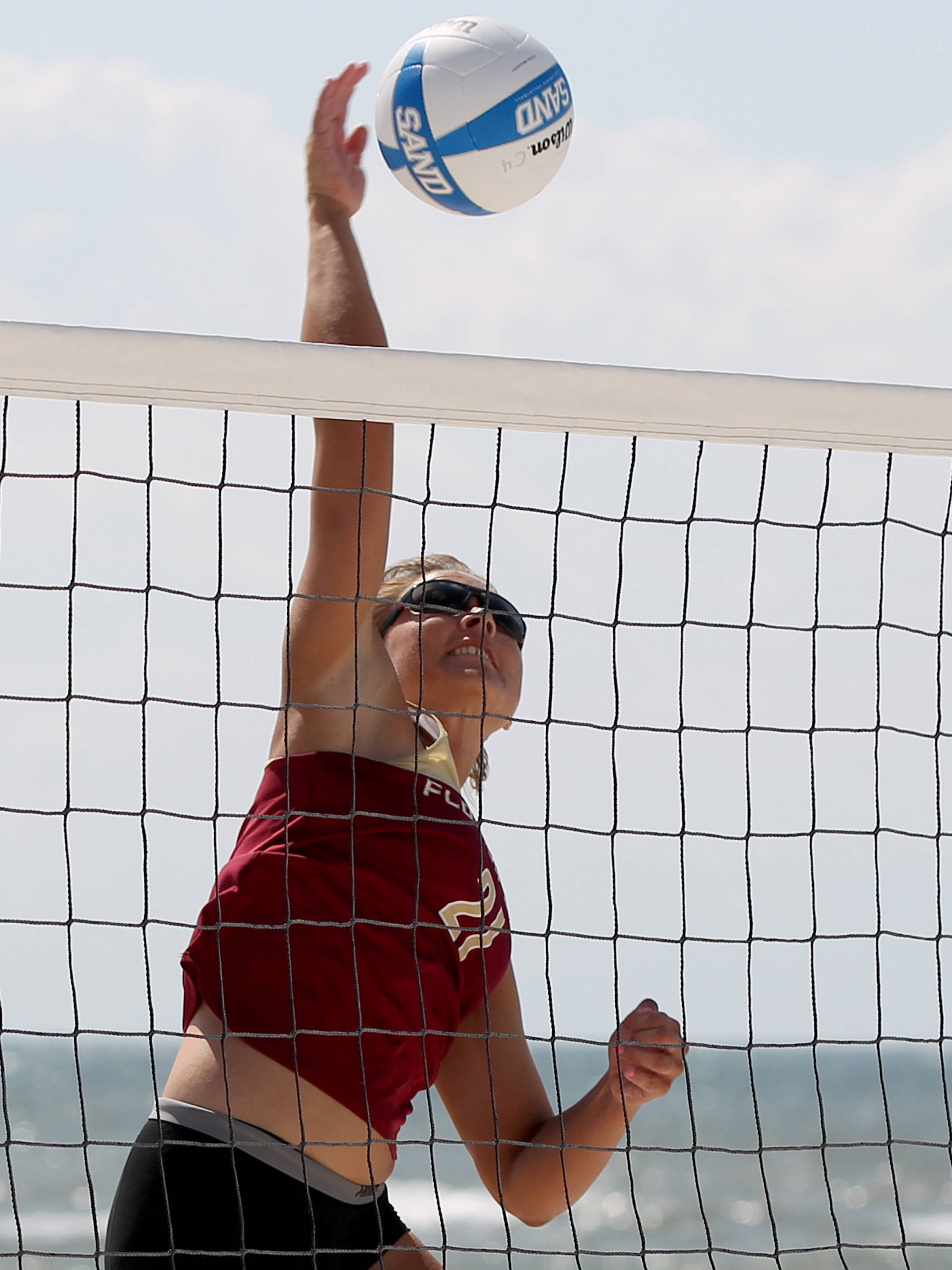 Jace Pardon, AVCA Collegiate Sand Volleyball National  Championships - Pairs,  Gulf Shores, Alabama, 05/05/13 . (Photo by Steve Musco)