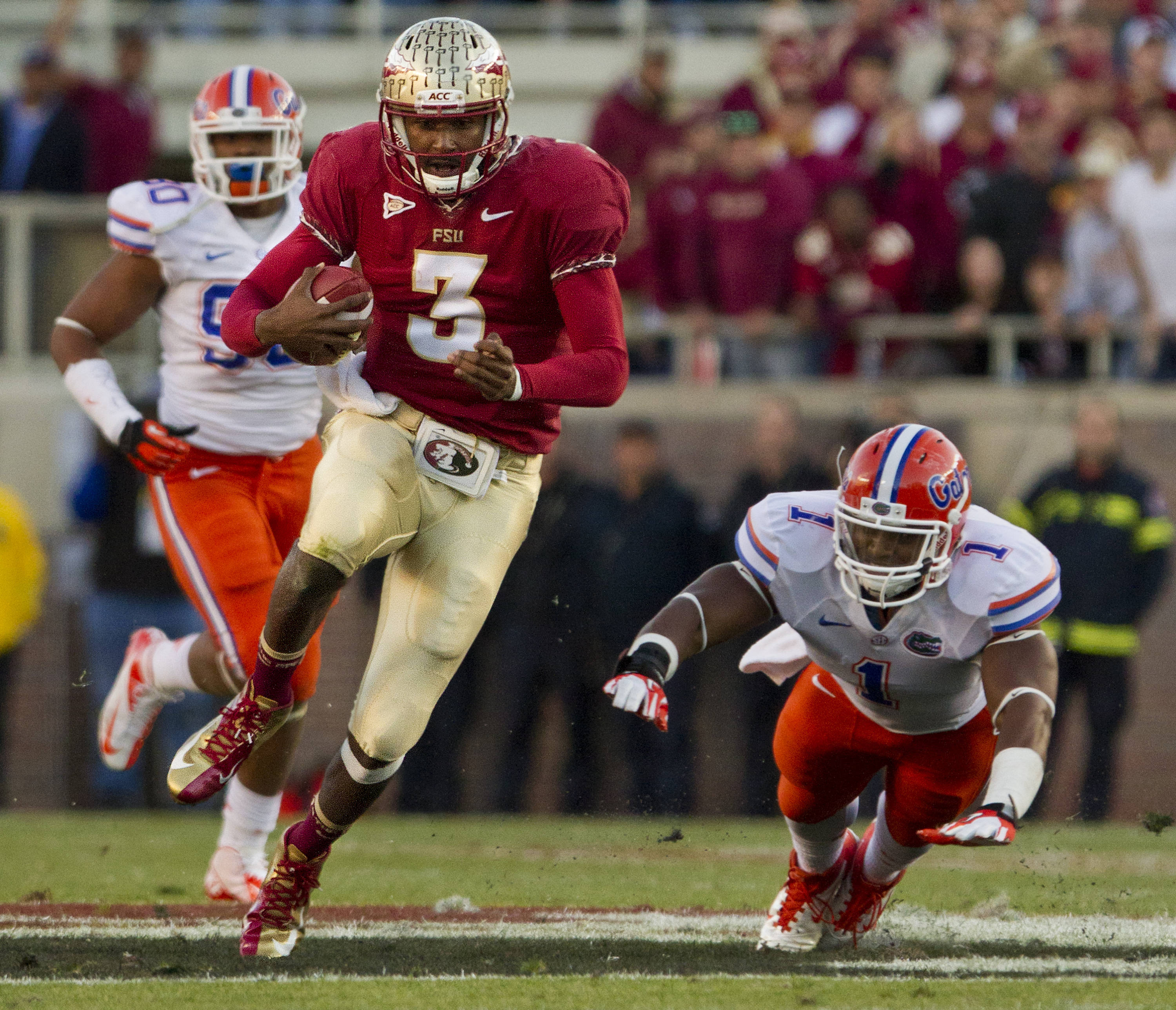 EJ Manuel (3) during FSU Football's game against UF on Saturday, November 24, 2012 in Tallahassee, Fla.