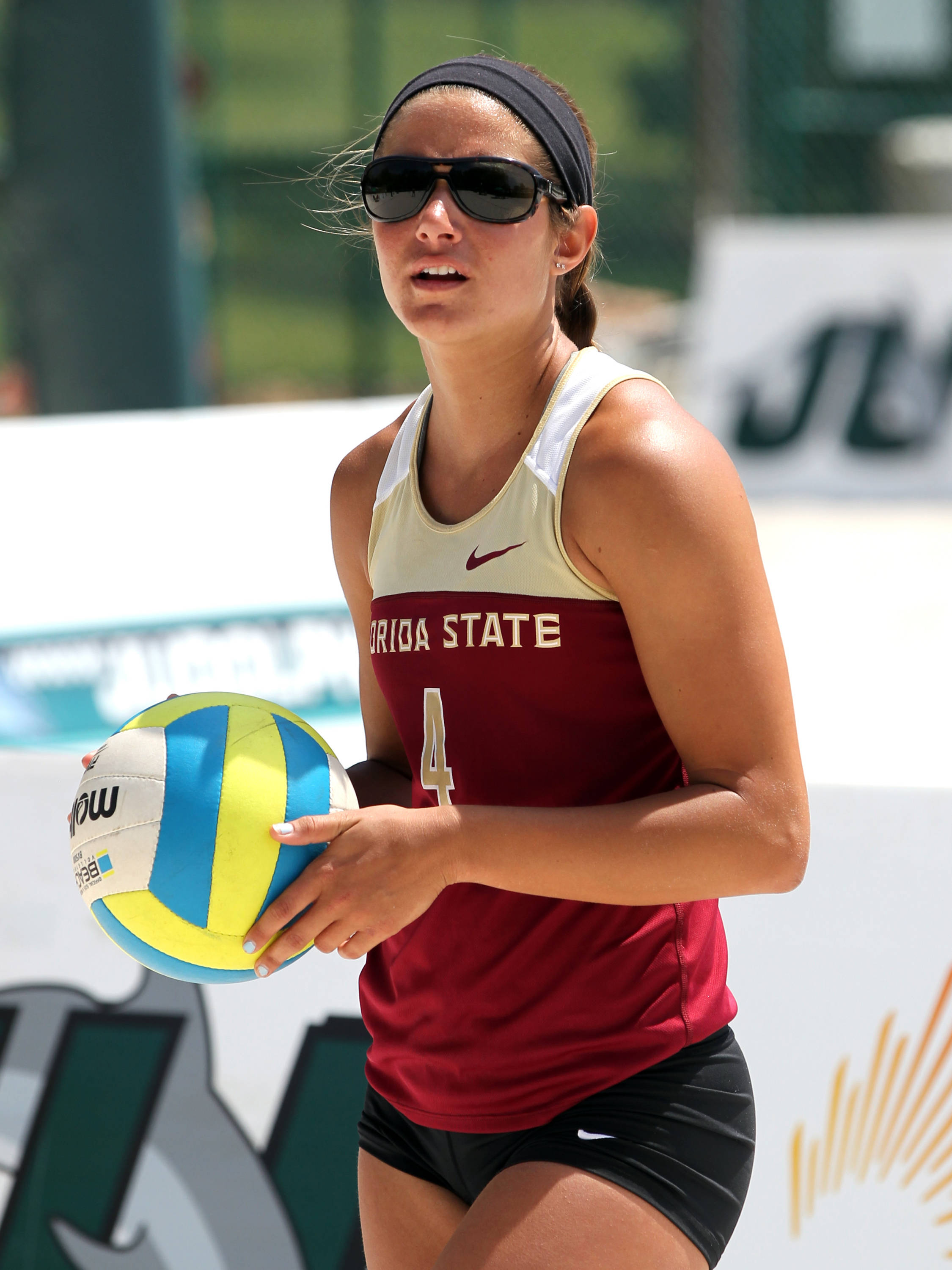 Stephanie Pellitteri, FSU vs Jacksonville, 03/30/13 . (Photo by Steve Musco)