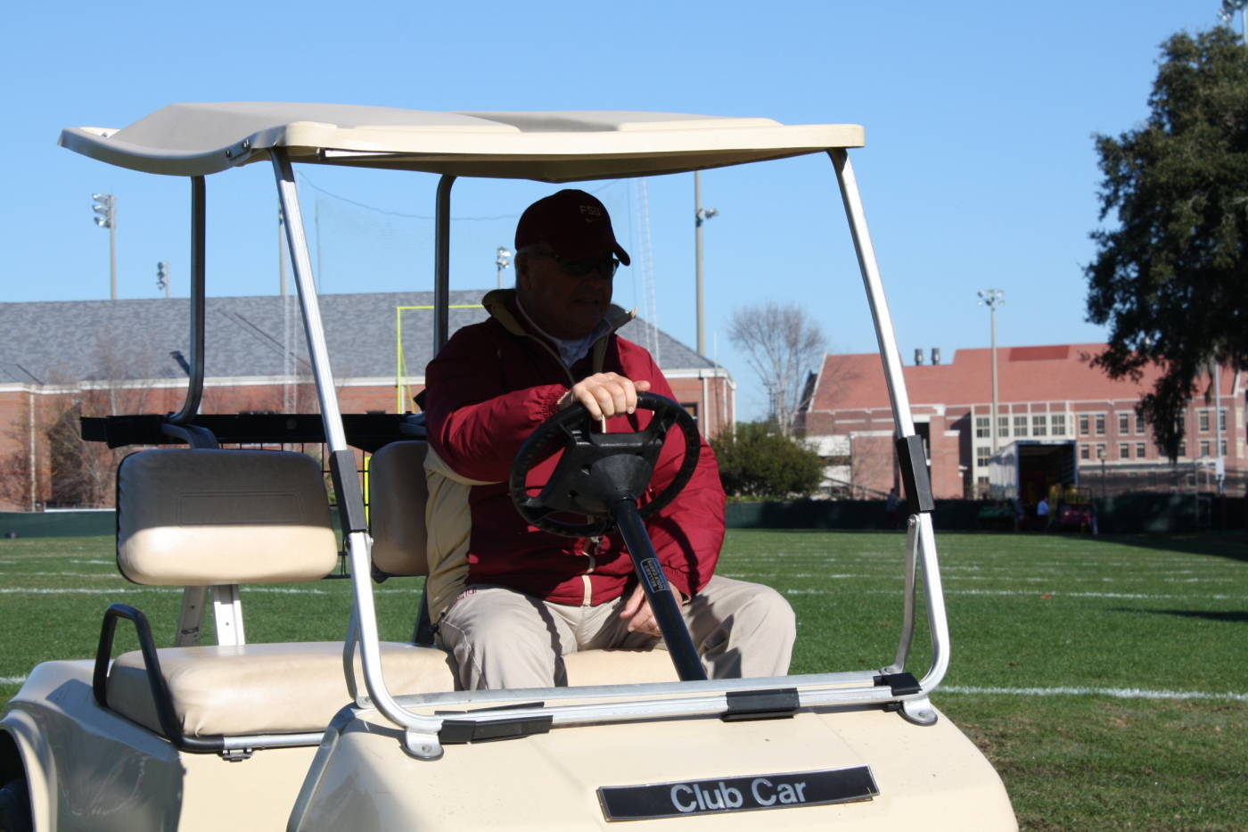 Coach Bowden after practice