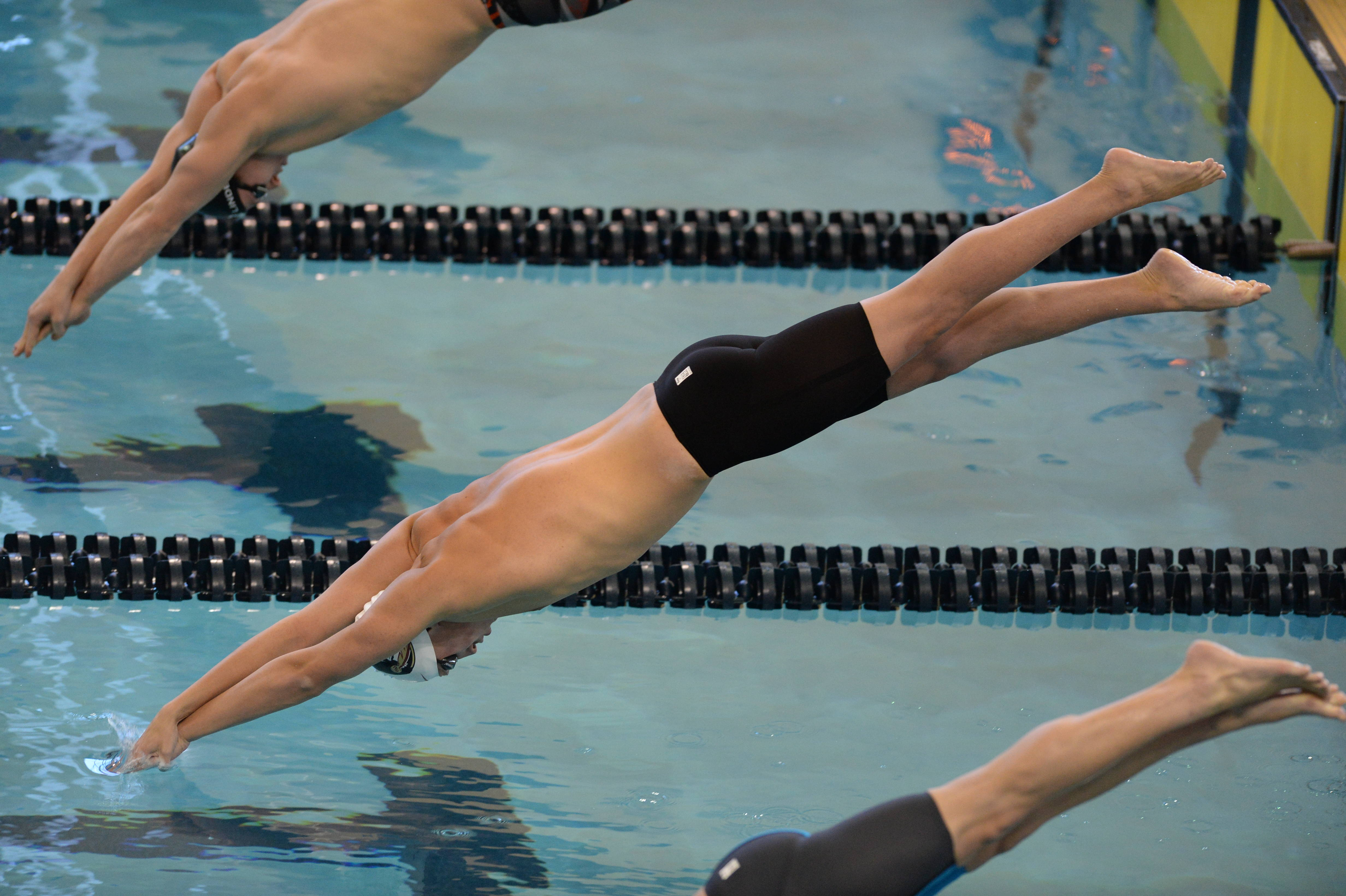 Anthony Lyons takes off for the 200 free - Mitch White