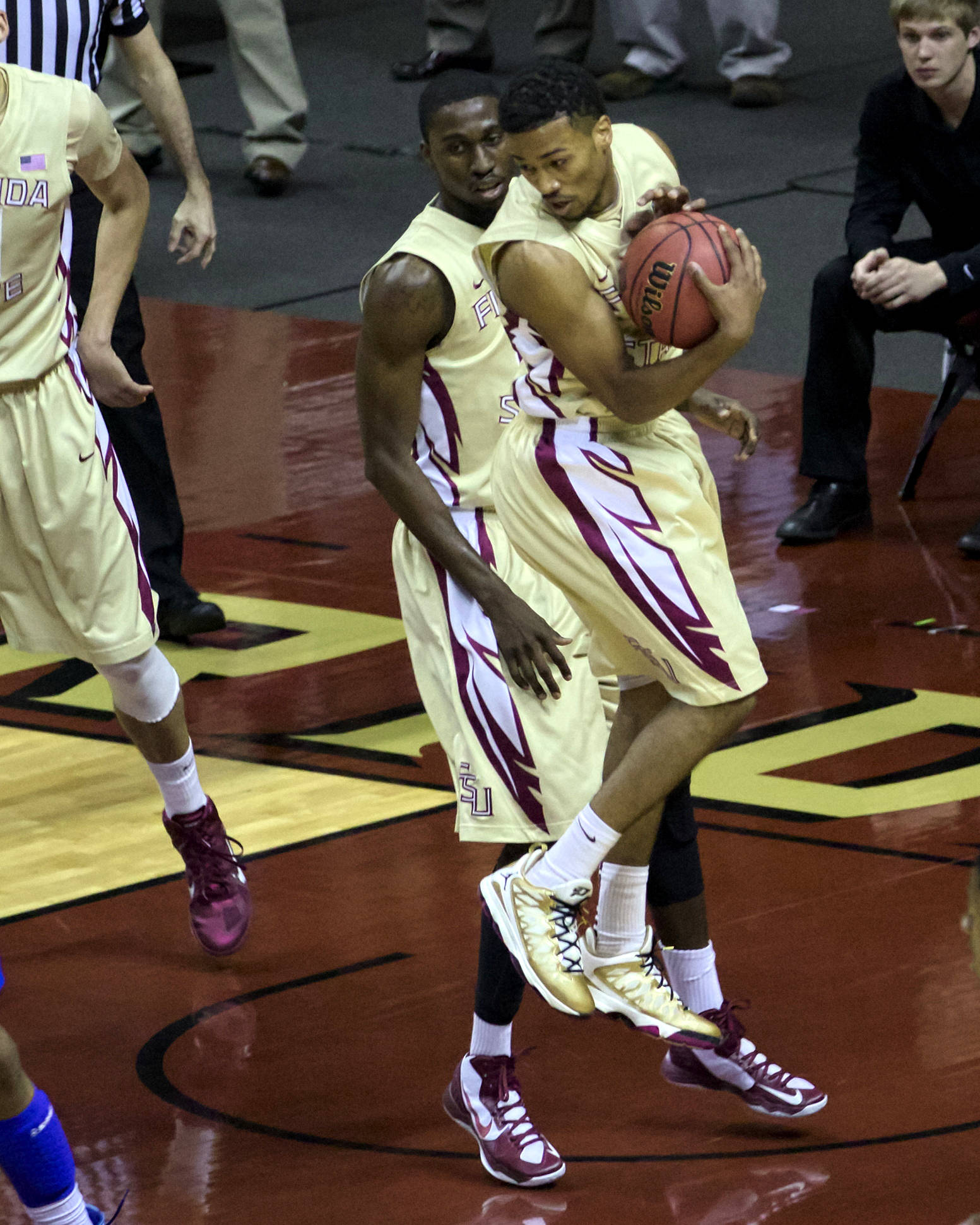 Devon Bookert (1), NIT First Round, FSU vs Louisiana Tech, 03/19/13 . (Photo by Steve Musco)