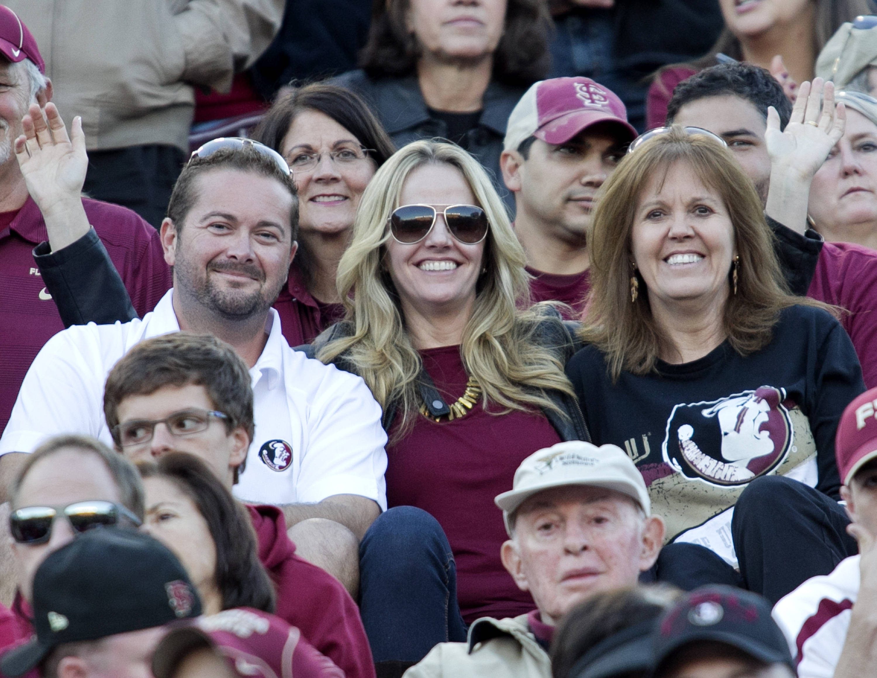 FSU fans enjoying the game, FSU vs NC State,  10-26-13, (Photo by Steve Musco)