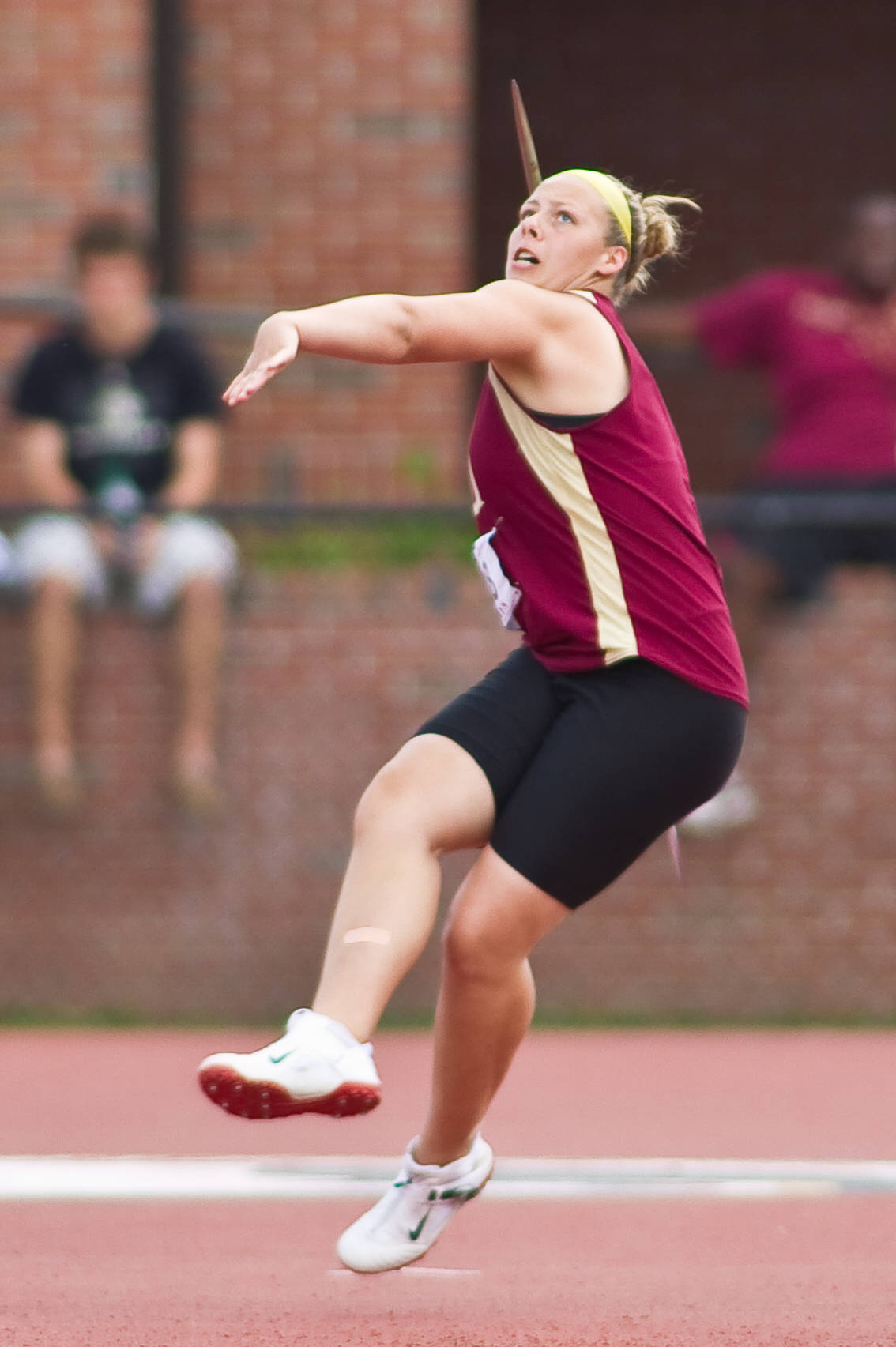 Chelsea Whalen, a sophomore from Florida State, prepares to cut loose in the javelin.