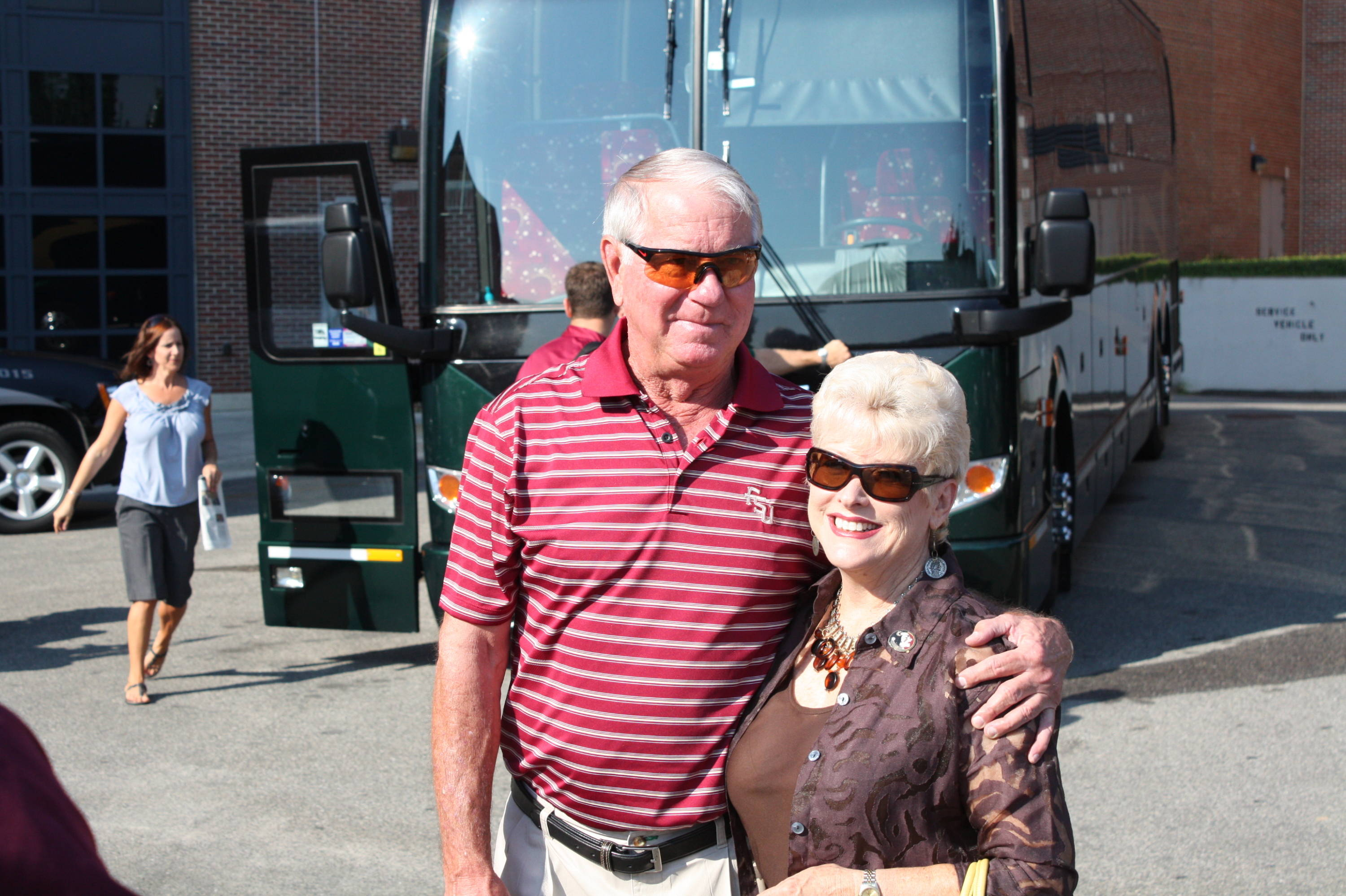 Florida State head coach Mike Martin and his wife Carol.