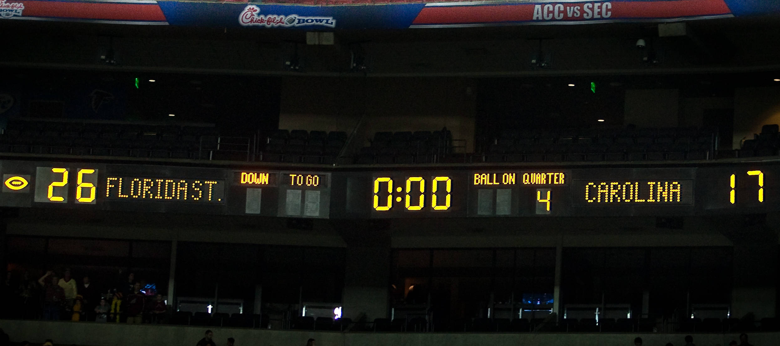Final Score in the Georgia Dome