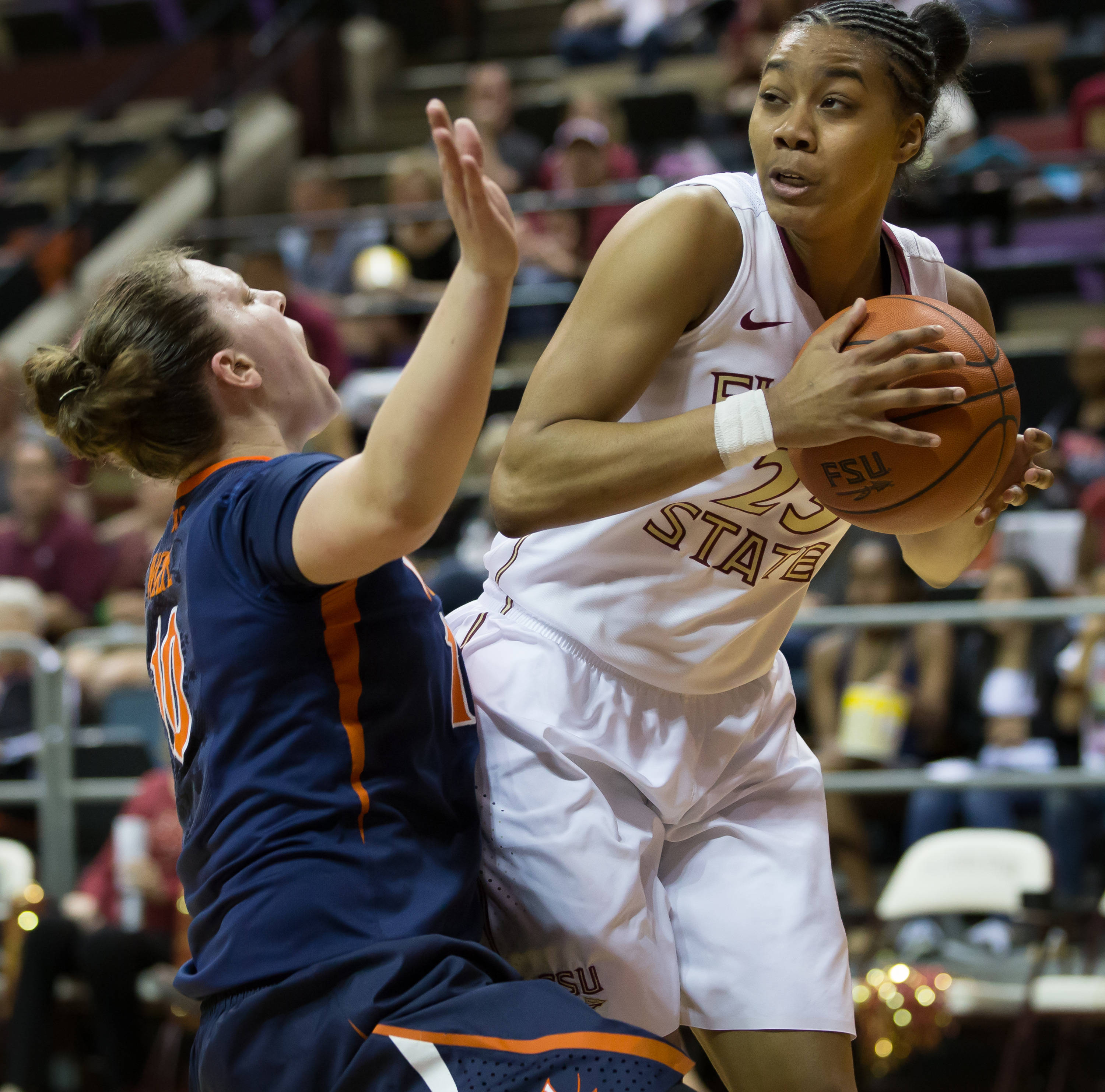 Ivey Slaughter (23) chipped in 13 points for FSU.