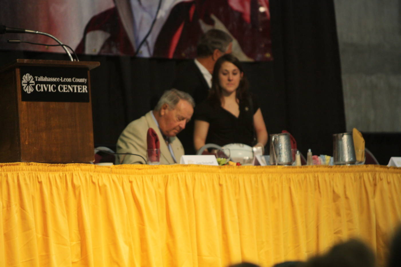 Coach Bowden at the 2009 Football Luncheon.