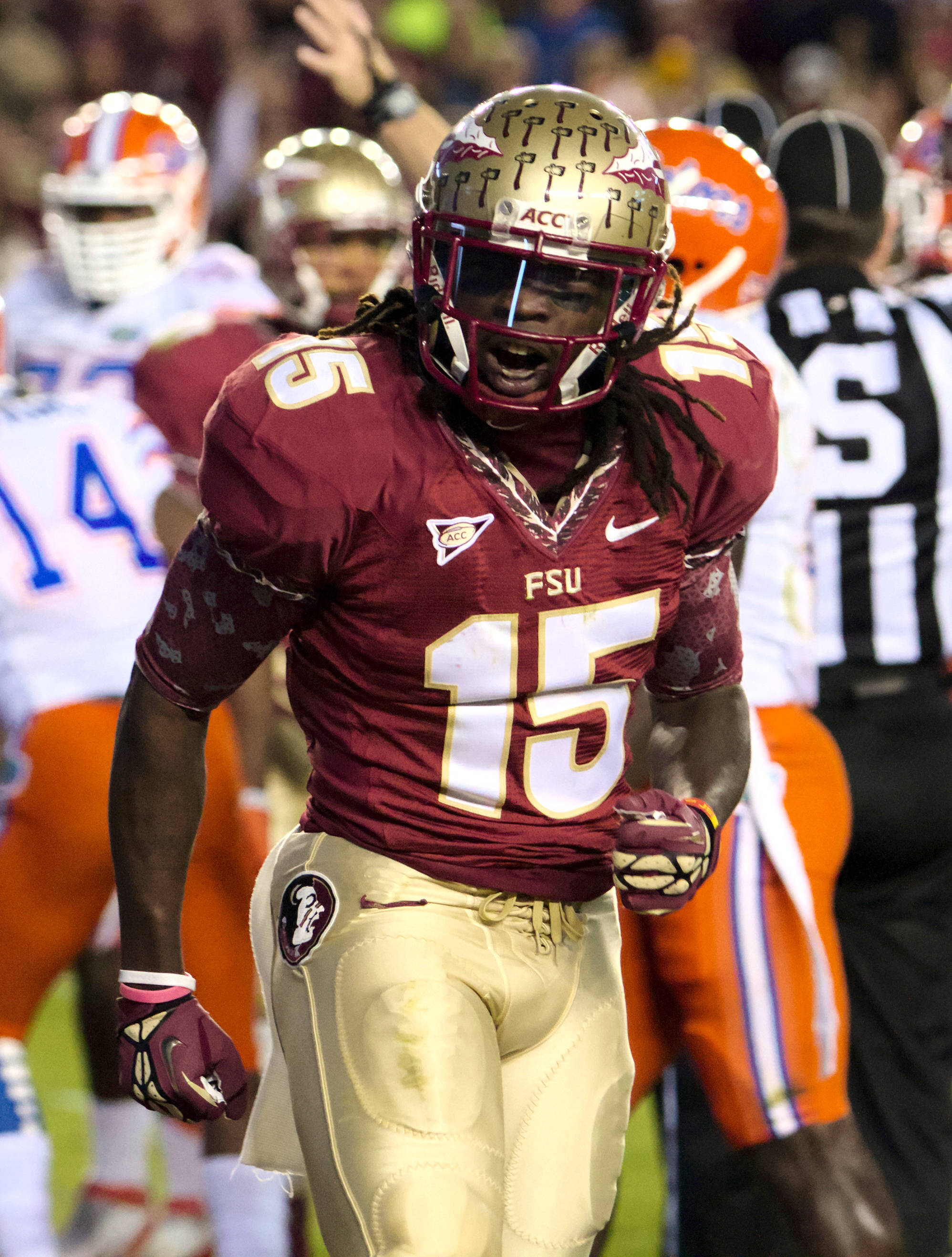 Mario Edwards Jr, FSU vs Florida, 11/24/12. (Photo by Steve Musco)