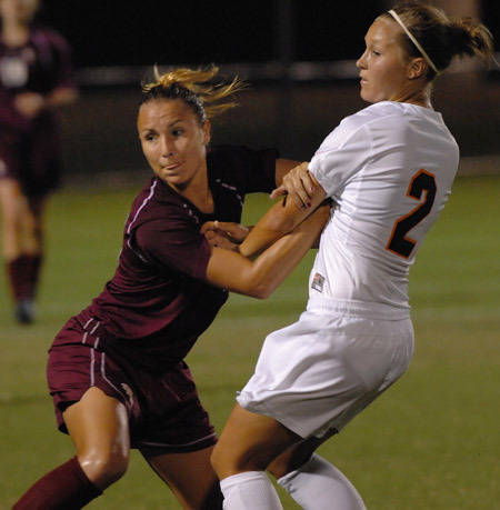Holly Peltzer notched her second goal of the season scoring in the 18th minute against UVa.