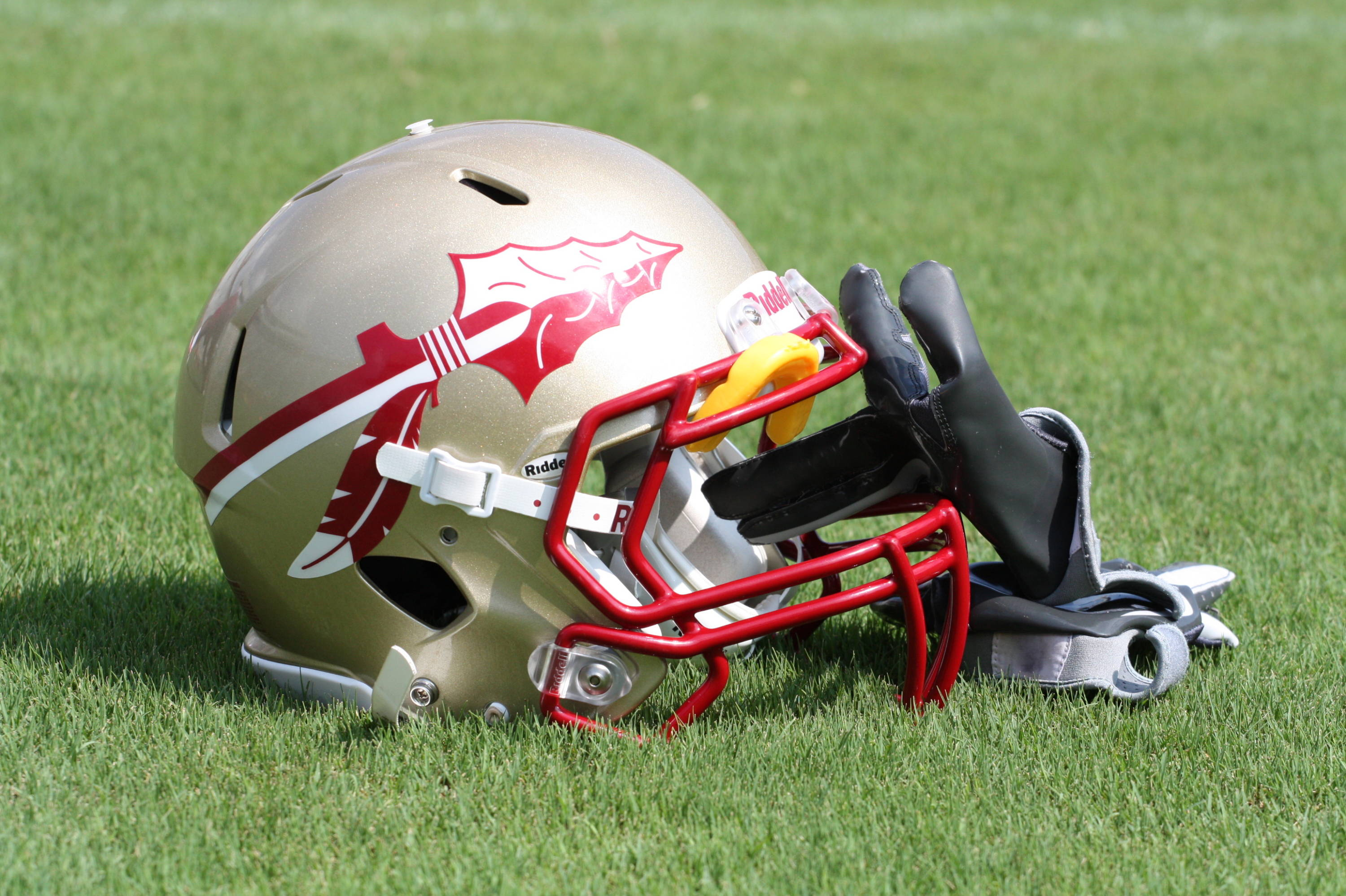 The Florida State helmet