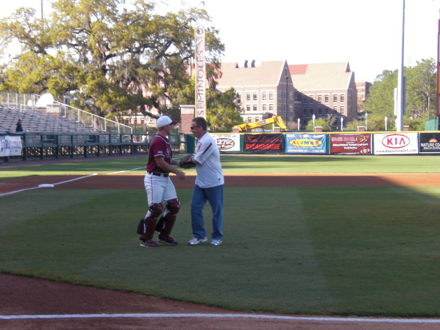 Coach Braman's First Pitch Experience