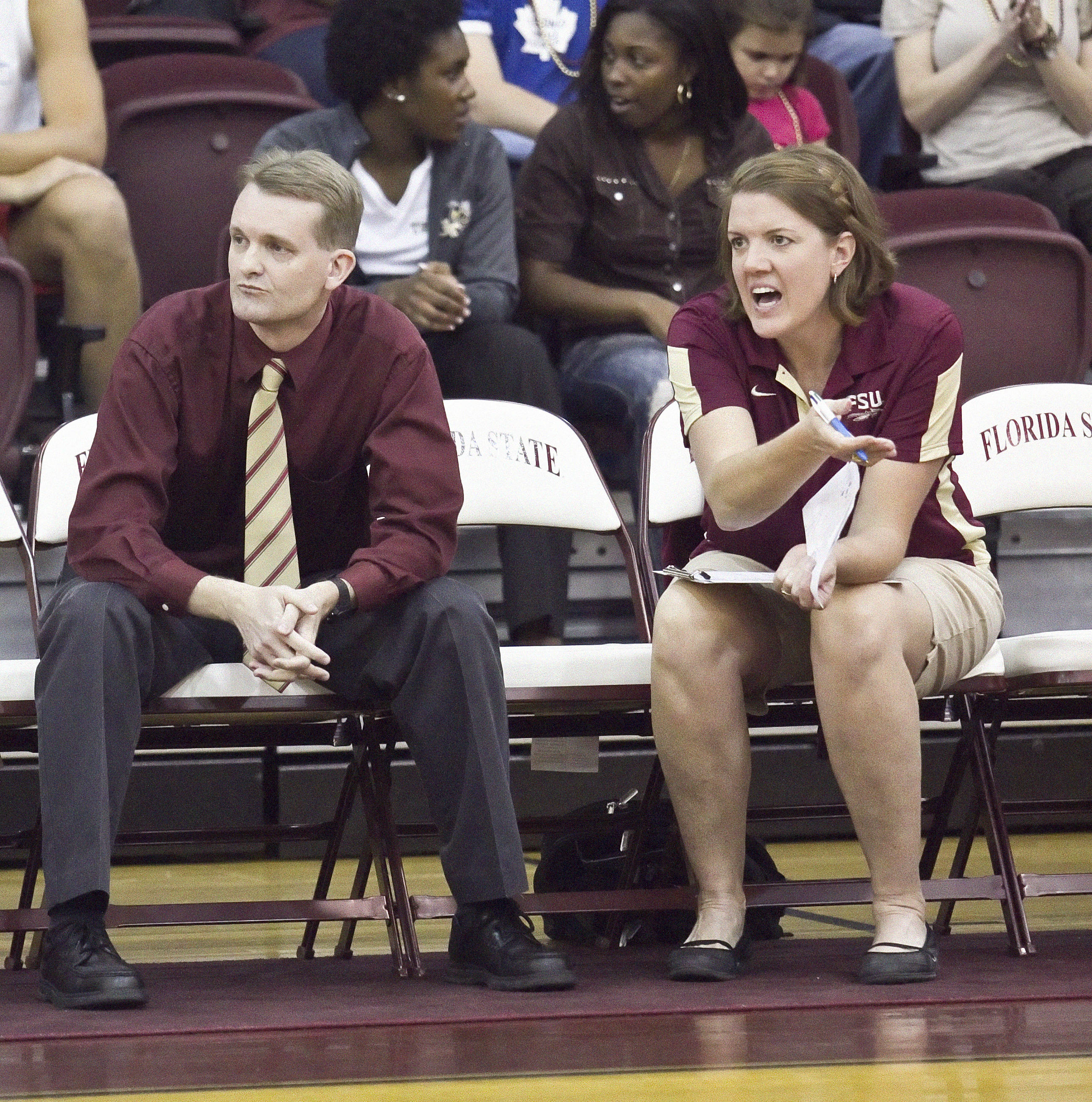 Head Coach Chris Poole, Associate Head Coach Holly Watts FSU vs GT 10/14/1111