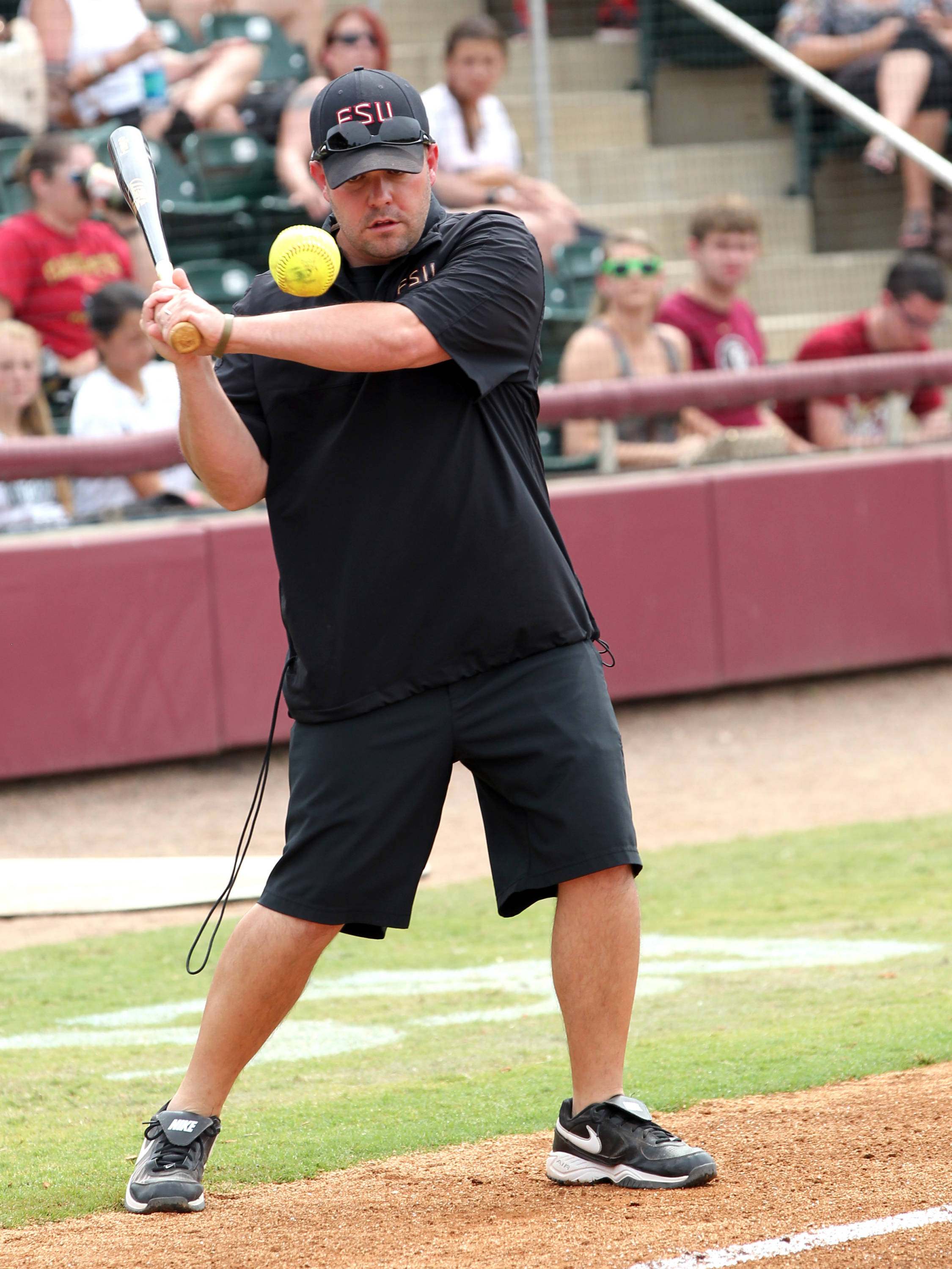 Assistant Coach Craig Snider, FSU VS NC, ACC Championship Semifinals, Tallahassee, FL,  05/10/13 . (Photo by Steve Musco)