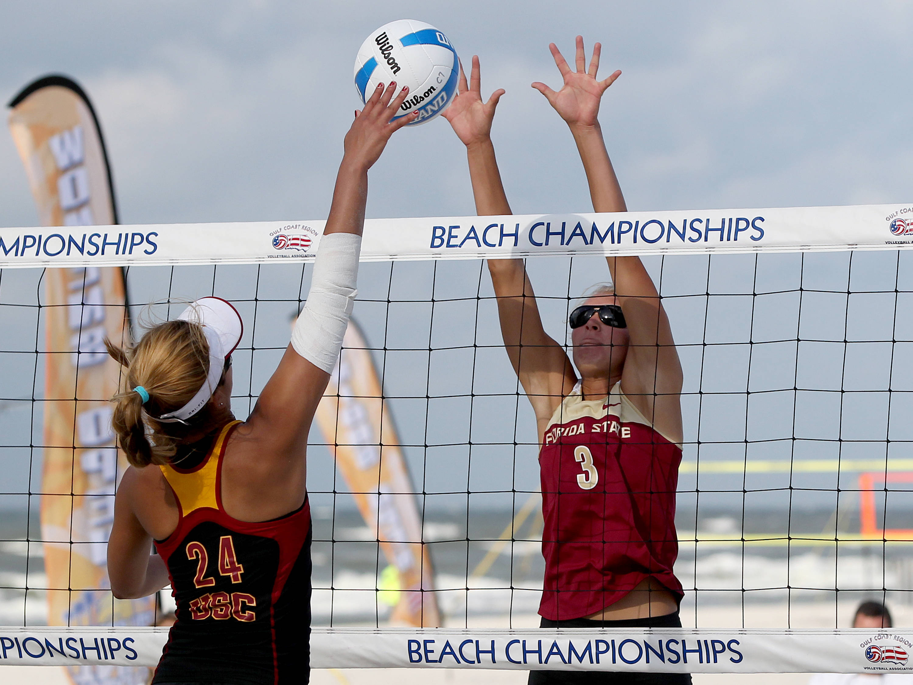 Jule Brown, AVCA Collegiate Sand Volleyball National  Championships - Pairs,  Gulf Shores, Alabama, 05/05/13 . (Photo by Steve Musco)
