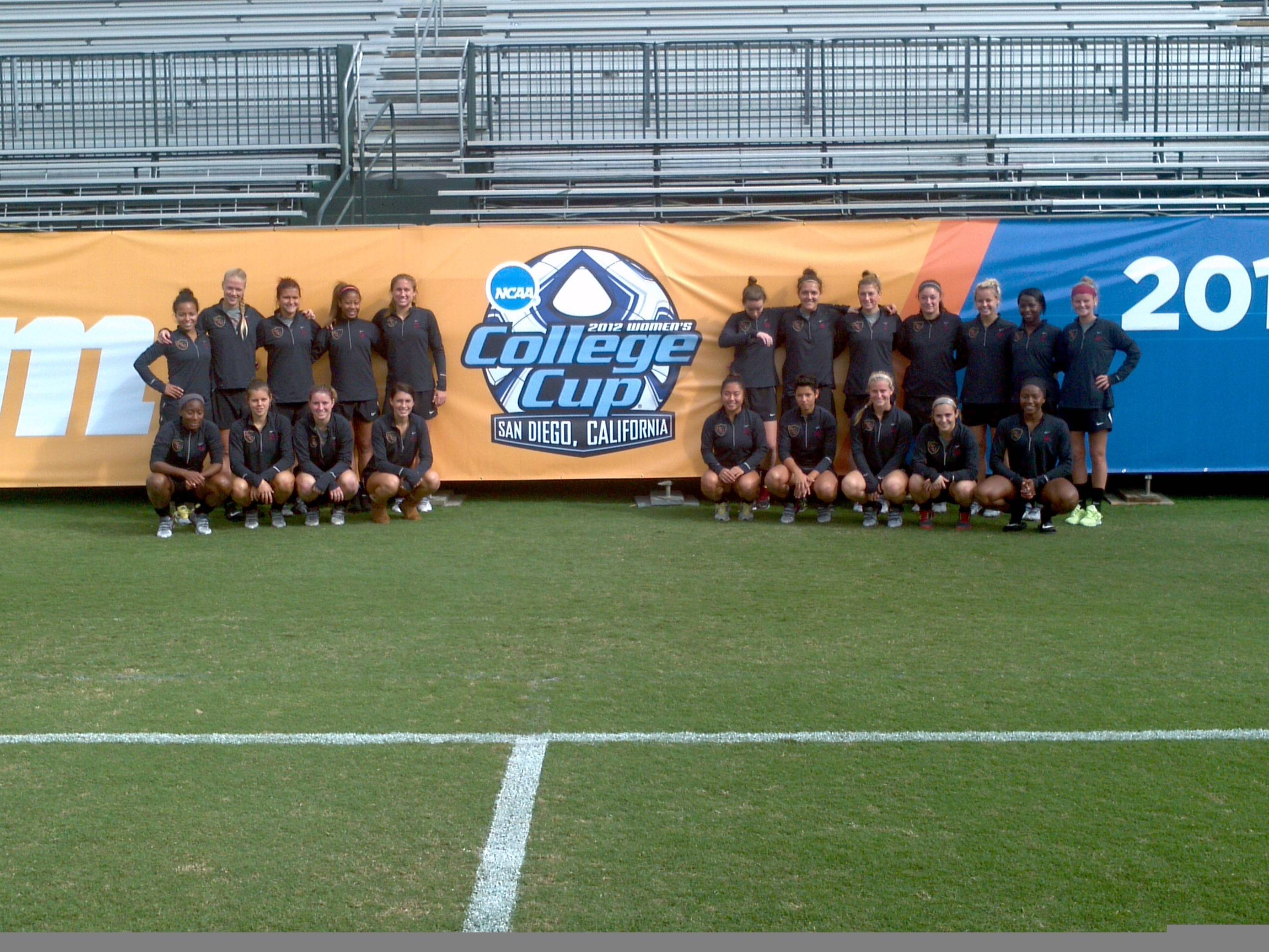 The 2012 Florida State Women's Soccer Team inside Torero Stadium