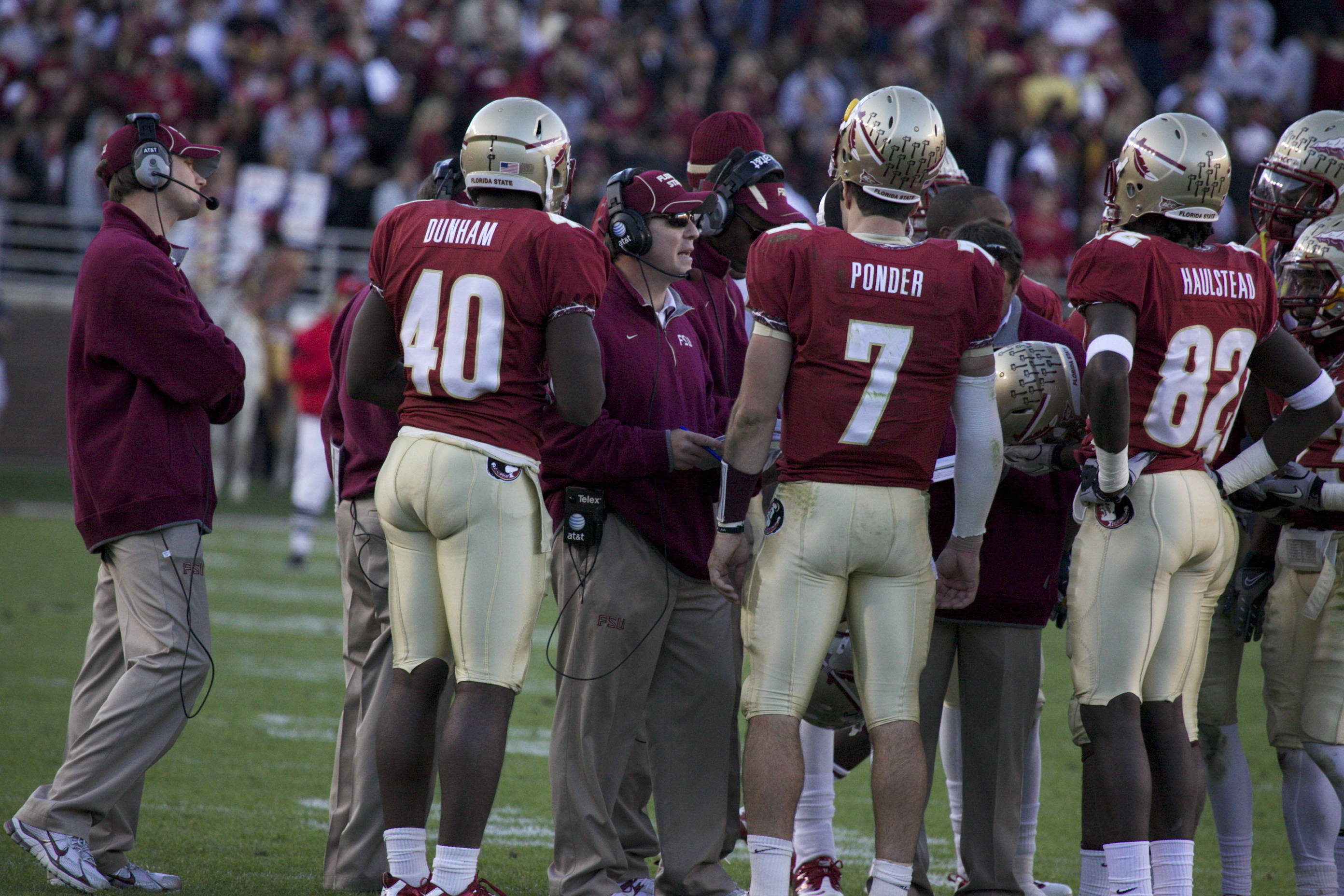 Matt Dunham (40), Jimbo Fisher, Christian Ponder (7), Willie Haulstead (82)