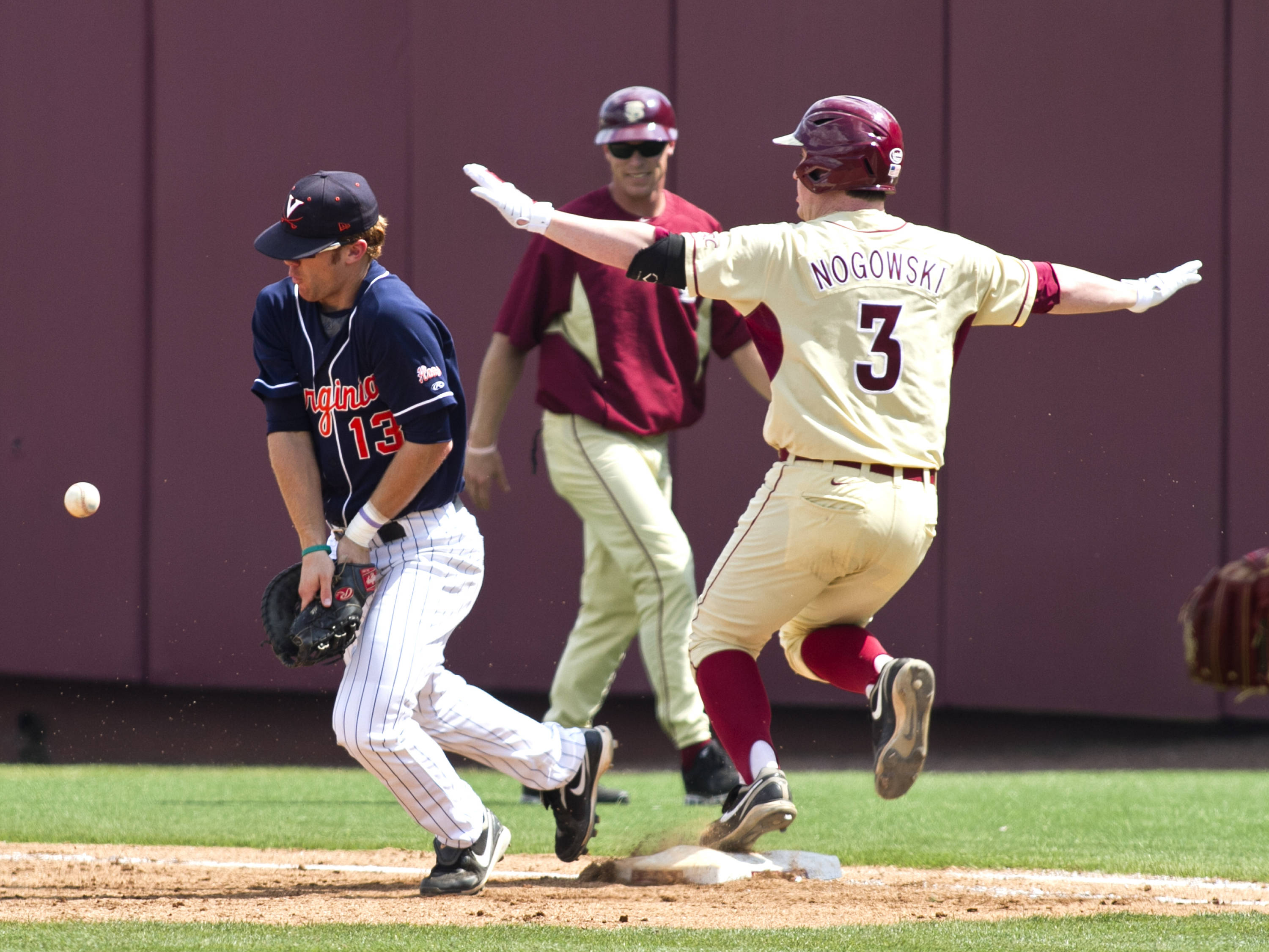 John Nogowski (3), FSU VS Virginia,  03/18/2012