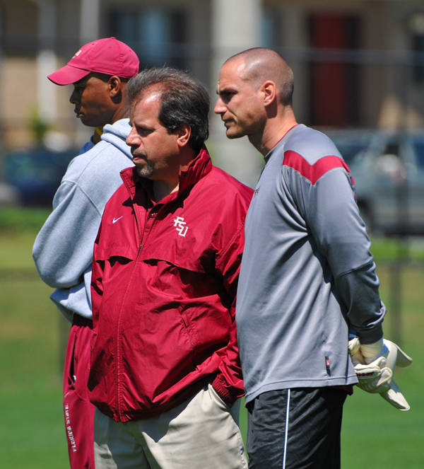 Florida State coaches (L to R): Eric Bell, Mark Krikorian and Paul Rogers