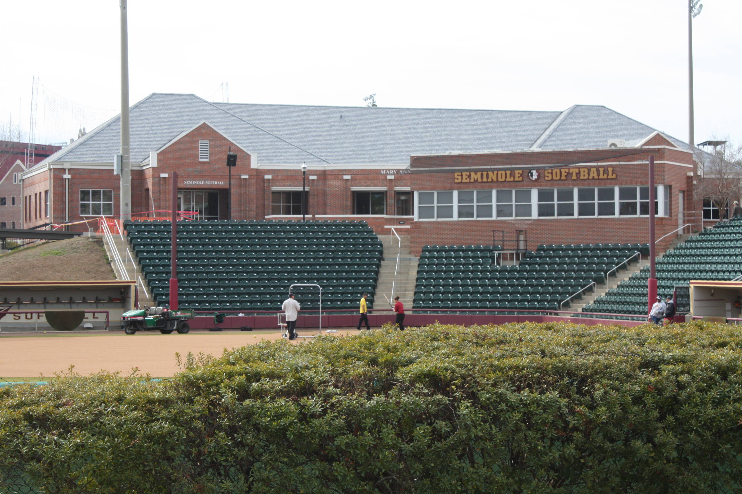 The field, press box and Stiles & Smith building