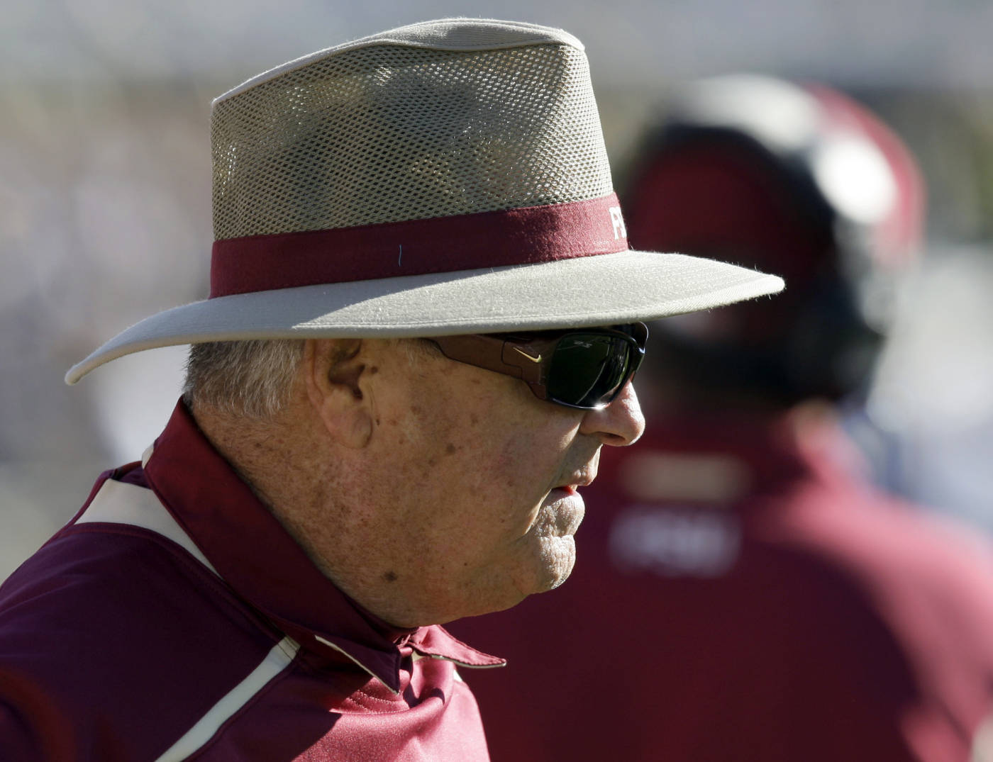 Florida State coach Bobby Bowden looks on during the second half against Wake Forest in an NCAA college football game in Winston-Salem, N.C., Saturday, Nov. 14, 2009. Florida State won, 41-28. (AP Photo/Chuck Burton)