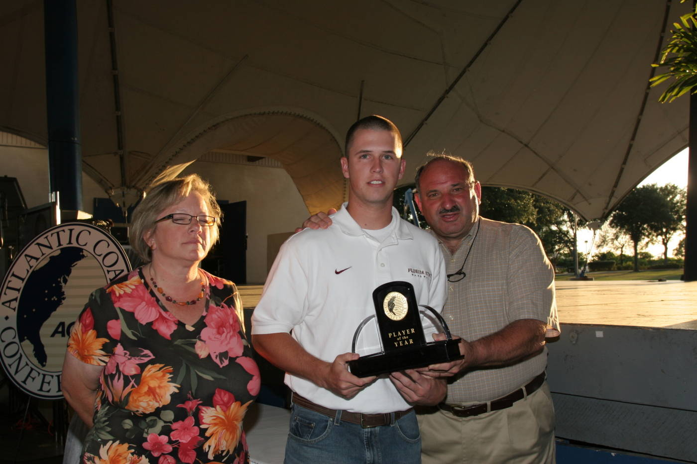 Buster Posey is honored as the ACC Player of the Year in 2008.