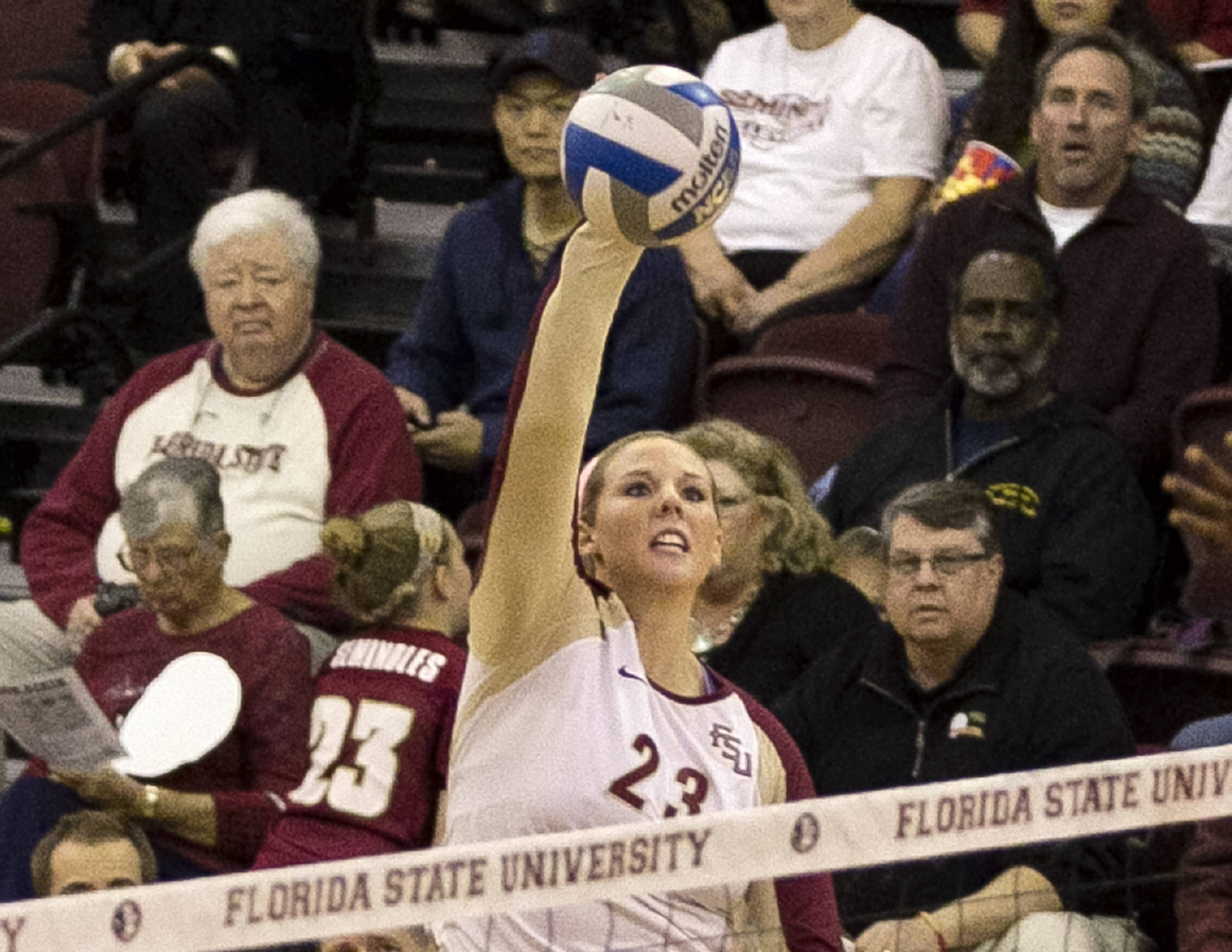 Elise Walch (23), FSU vs Clemson, 11-27-13,  (Photo by Steve Musco)