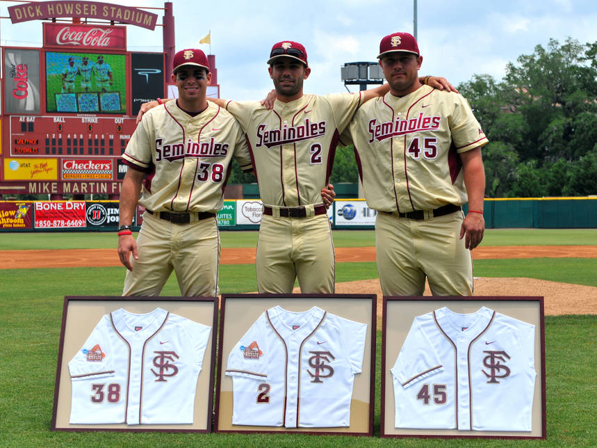The 2010 Florida State seniors - Stephen Cardullo, Ohmed Danesh and Mike Meschke