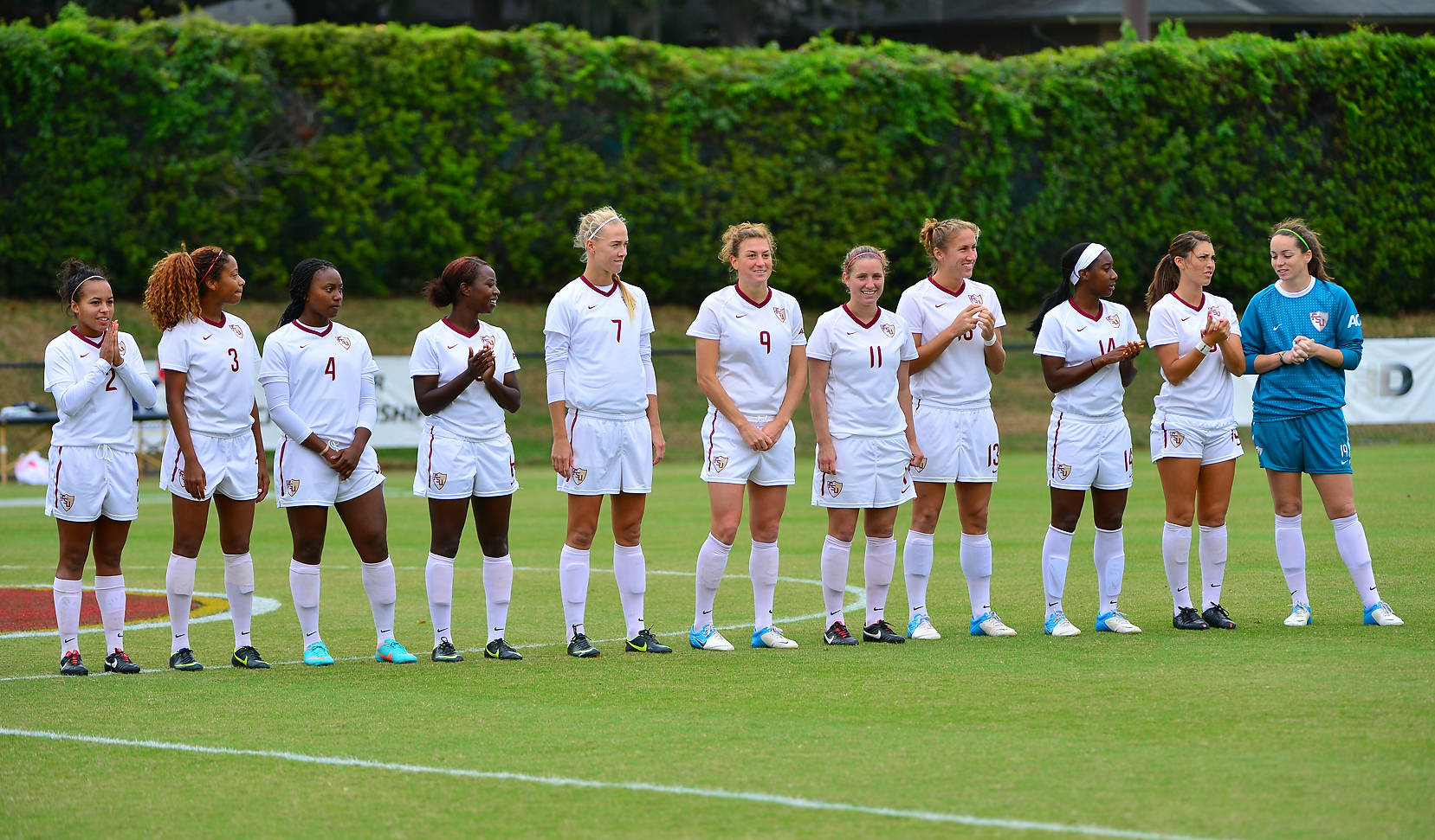 Florida State during the starting line-ups