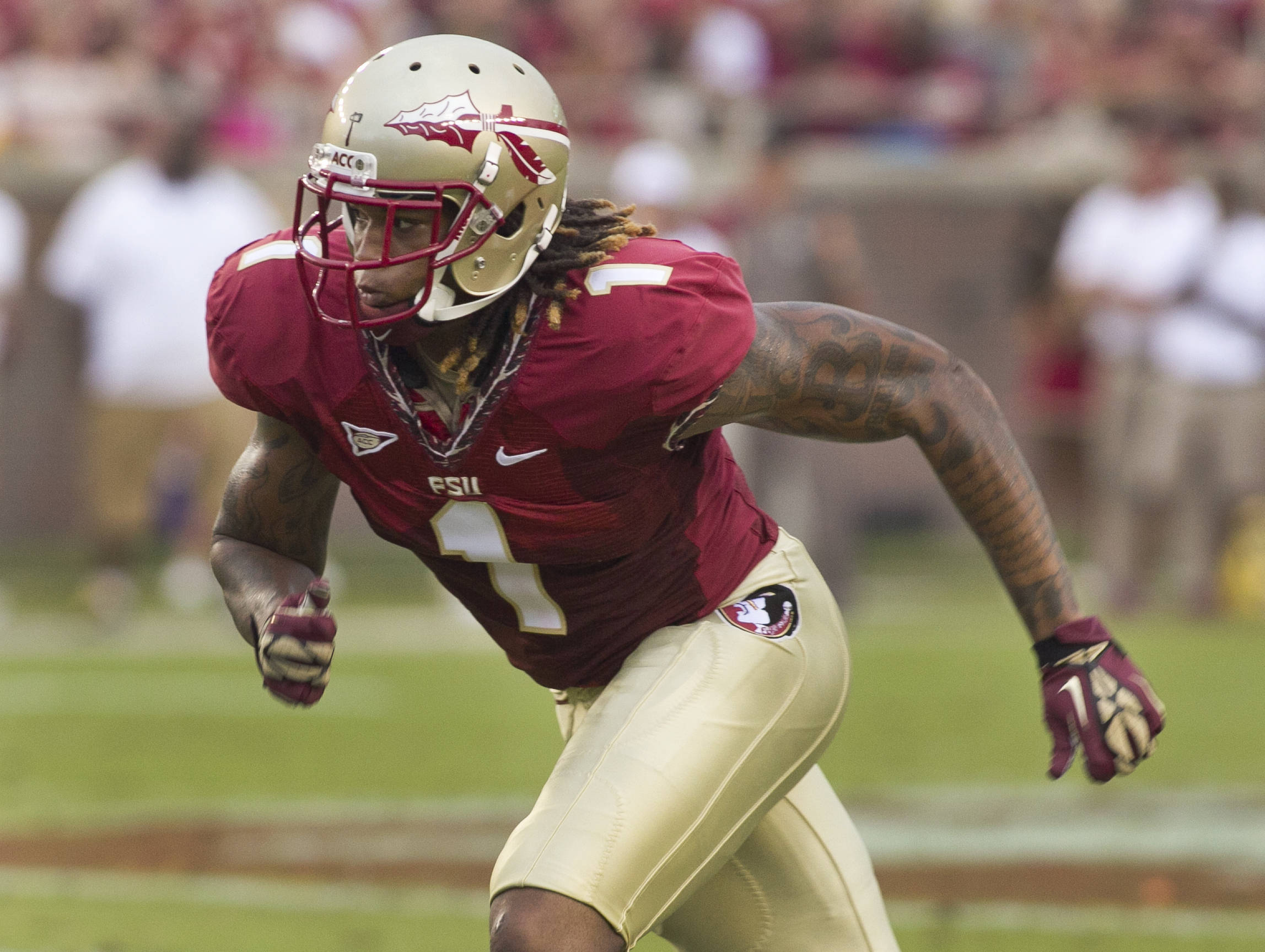 Kelvin Blenjamin (1),  FSU vs Savannah State, 9/8/12 (Photo by Steve Musco)